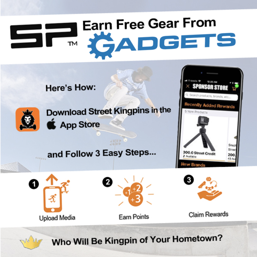 Sponsor Yourself - with camera accessories from SP-Gadgets. Cash in your Street Credit today. The GAME IS ON!