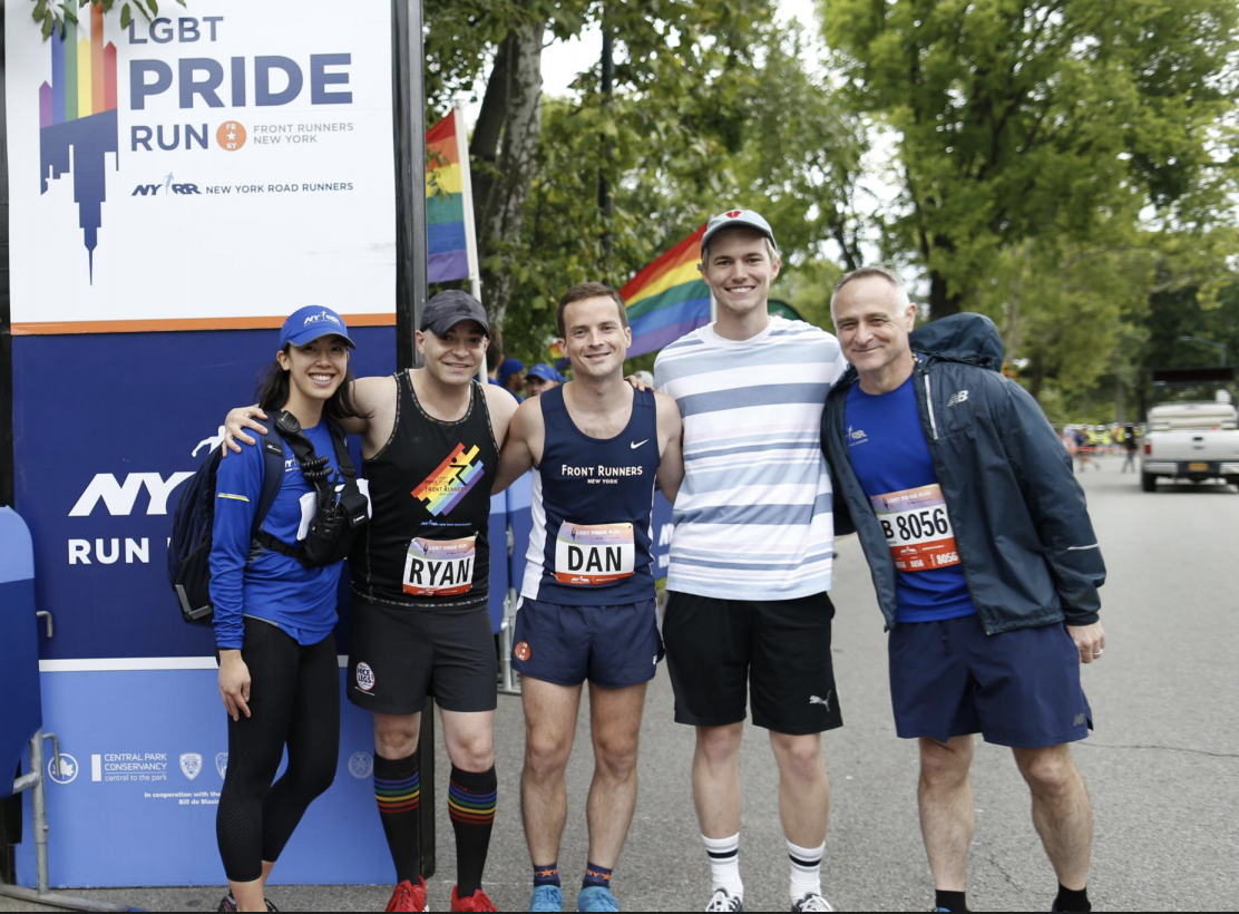 NYRR and FRNY members with 2018 Beneficiary representatives.