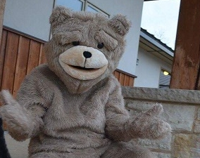 """Laughing Bear says, """"Come out and join us!"""""""