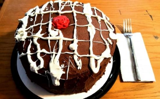 Triple Layer Chocolate Chocolate Cake