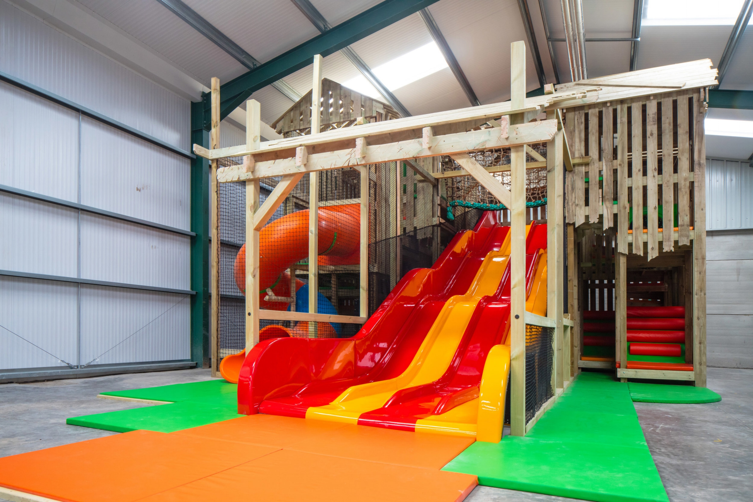This play space is now a stand-out play feature at Roves Farm.