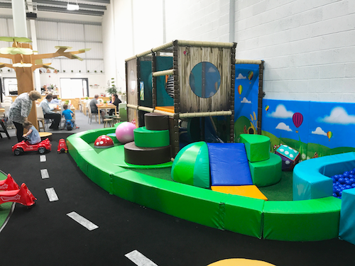 The tots area for smaller guests offers safe and exciting play.
