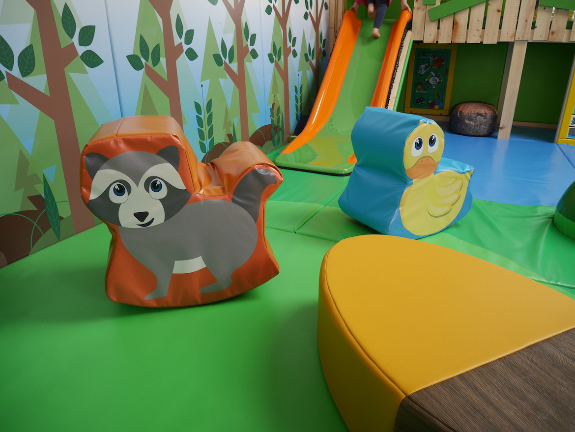 The racoon and duck softplay rockers