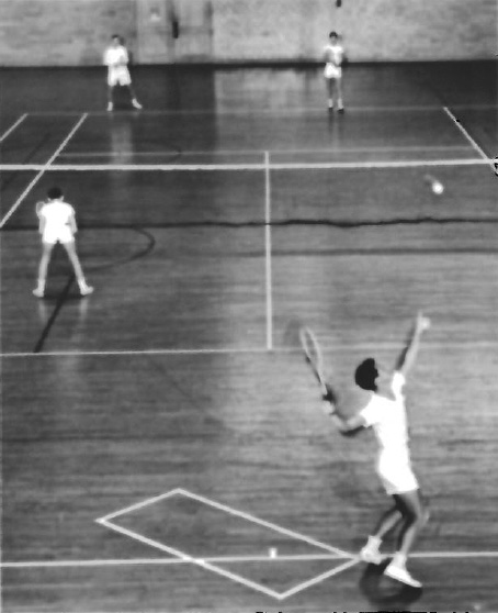 Indoor boys National Tournament at the Armory on January 1, 1950. (From the St. Louis Globe-Democrat archives of the St. Louis Mercantile Library at the University of Missouri-St. Louis)