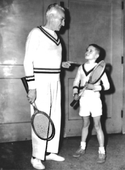 The oldest and the youngest players at the Armory in 1951: Ed Serrano, 65, and Cliff Buchholz, 8. (St. Louis Post-Dispatch)