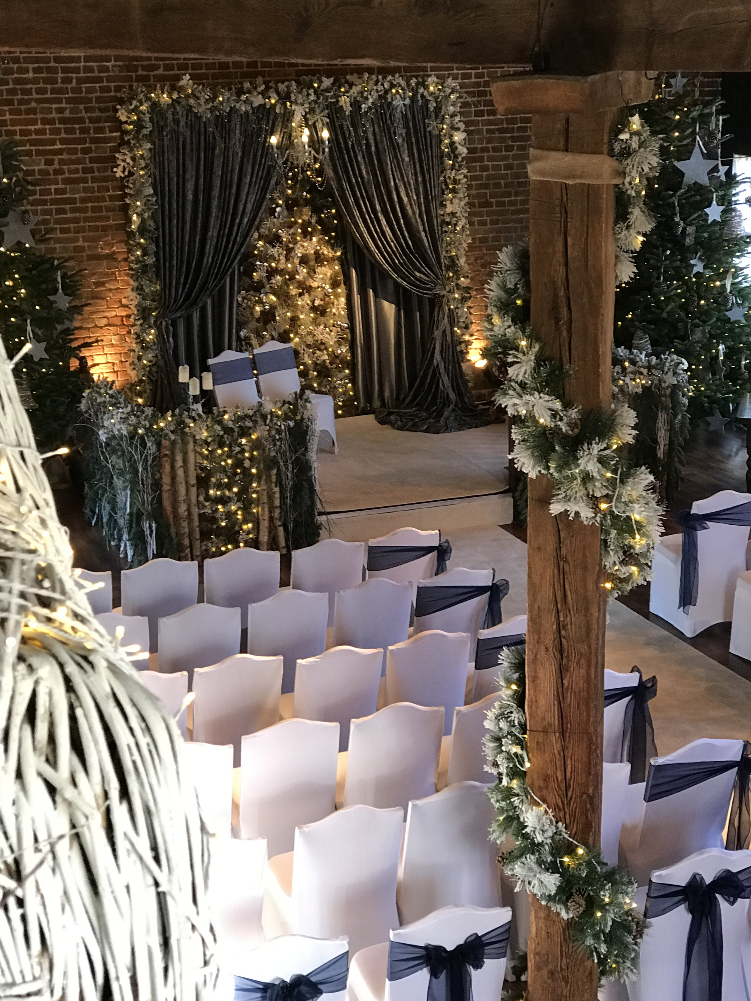 'An Enchanted Forest' Christmas 2017, Cooling Castle barn. -