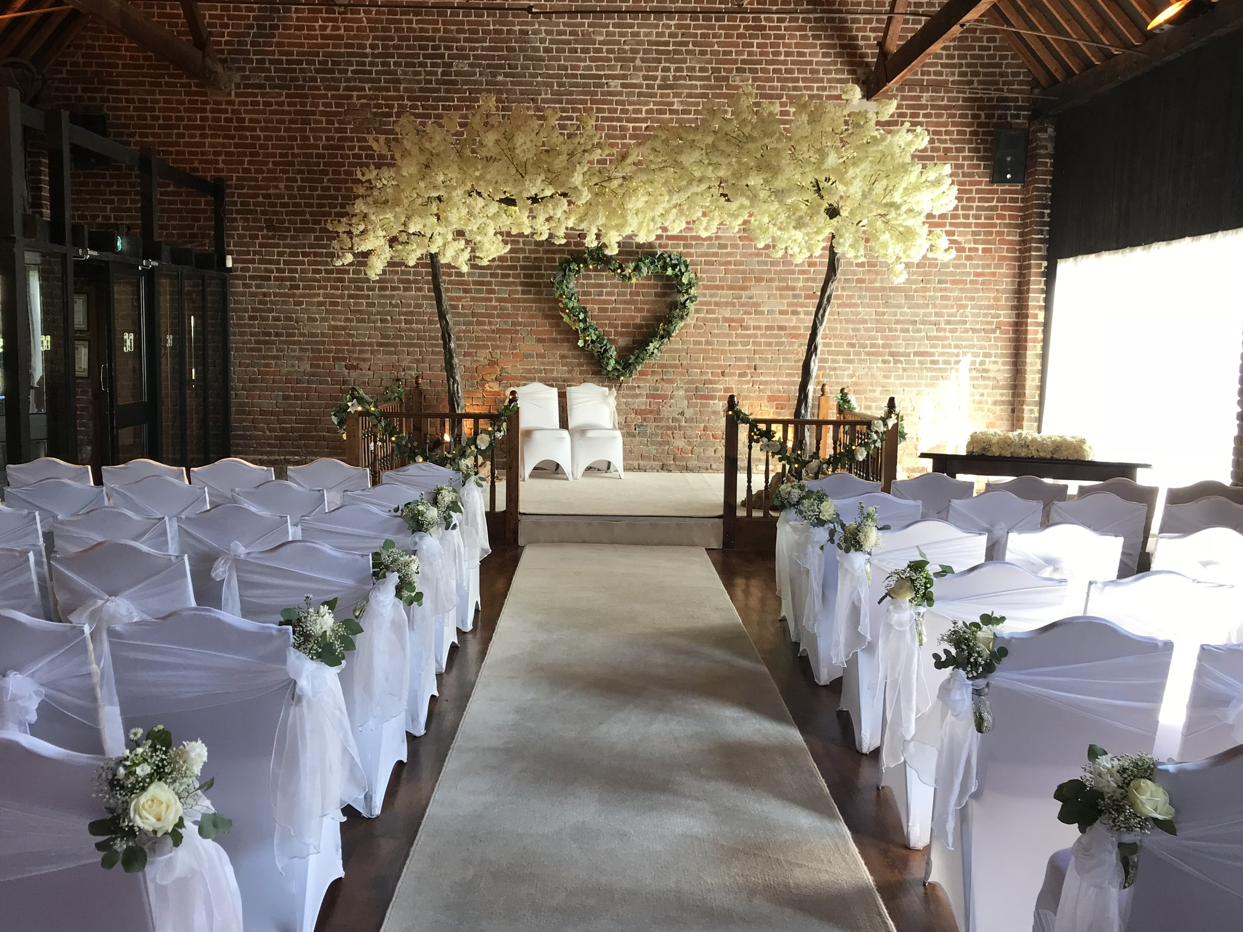 Our beautiful blossom trees will look stunning over your top table or maybe to be married beneath.
