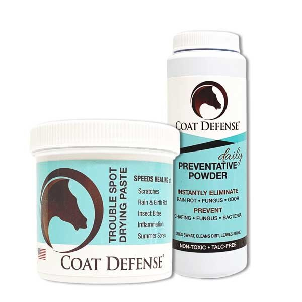 Our Heal & Prevent Package includes a  24oz TROUBLE SPOT DRYING PASTE  and  8oz DAILY PREVENTATIVE POWDER  to help alleviate all your open skin ailments for only $54! The bonus?  FREE SHIPPING !