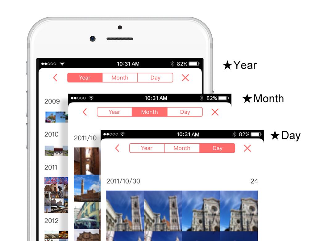 Piconizer app iphone photo storage organizer