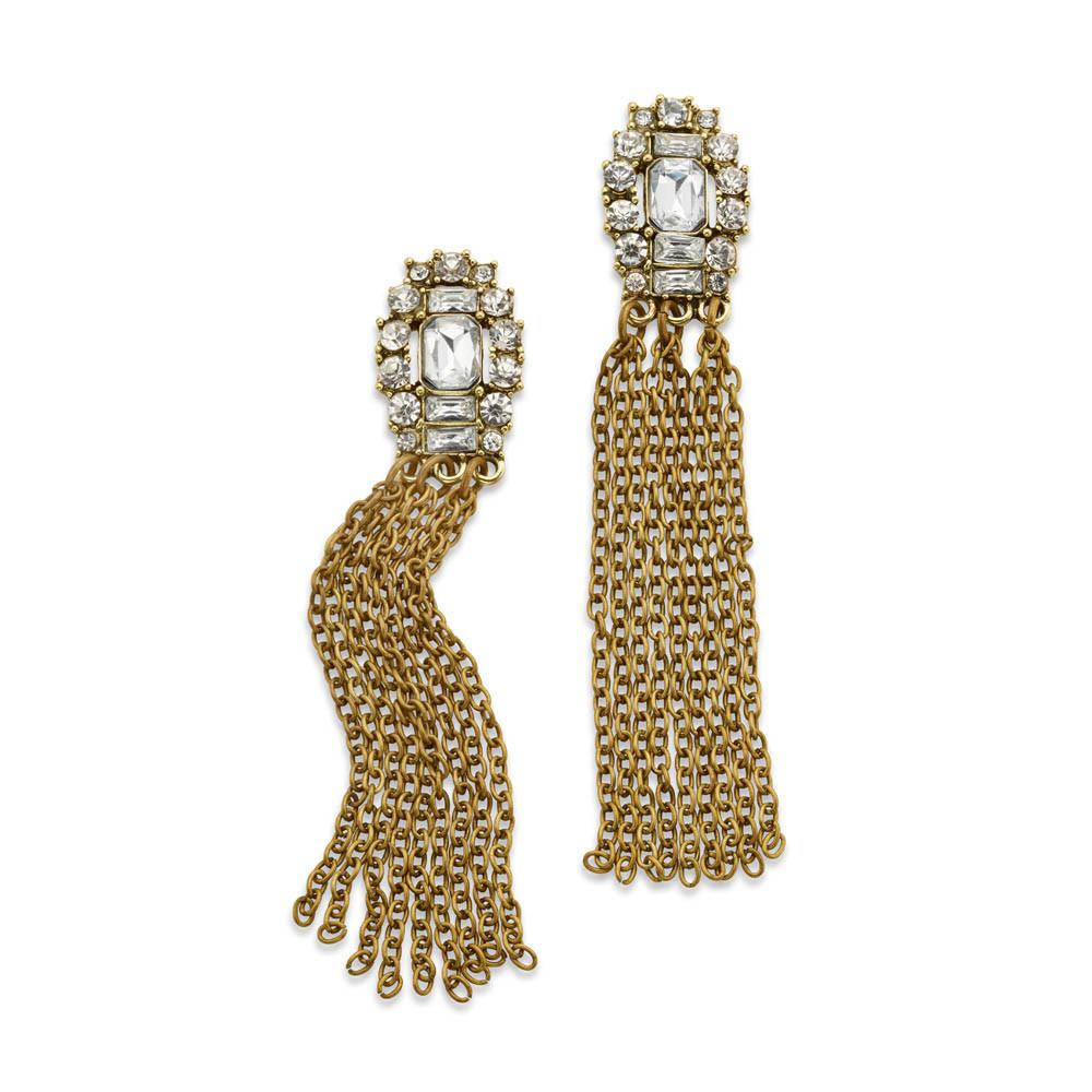 https://www.7charmingsisters.com/products/larger-life-crystal-antique-brass-statement-tassel-earrings