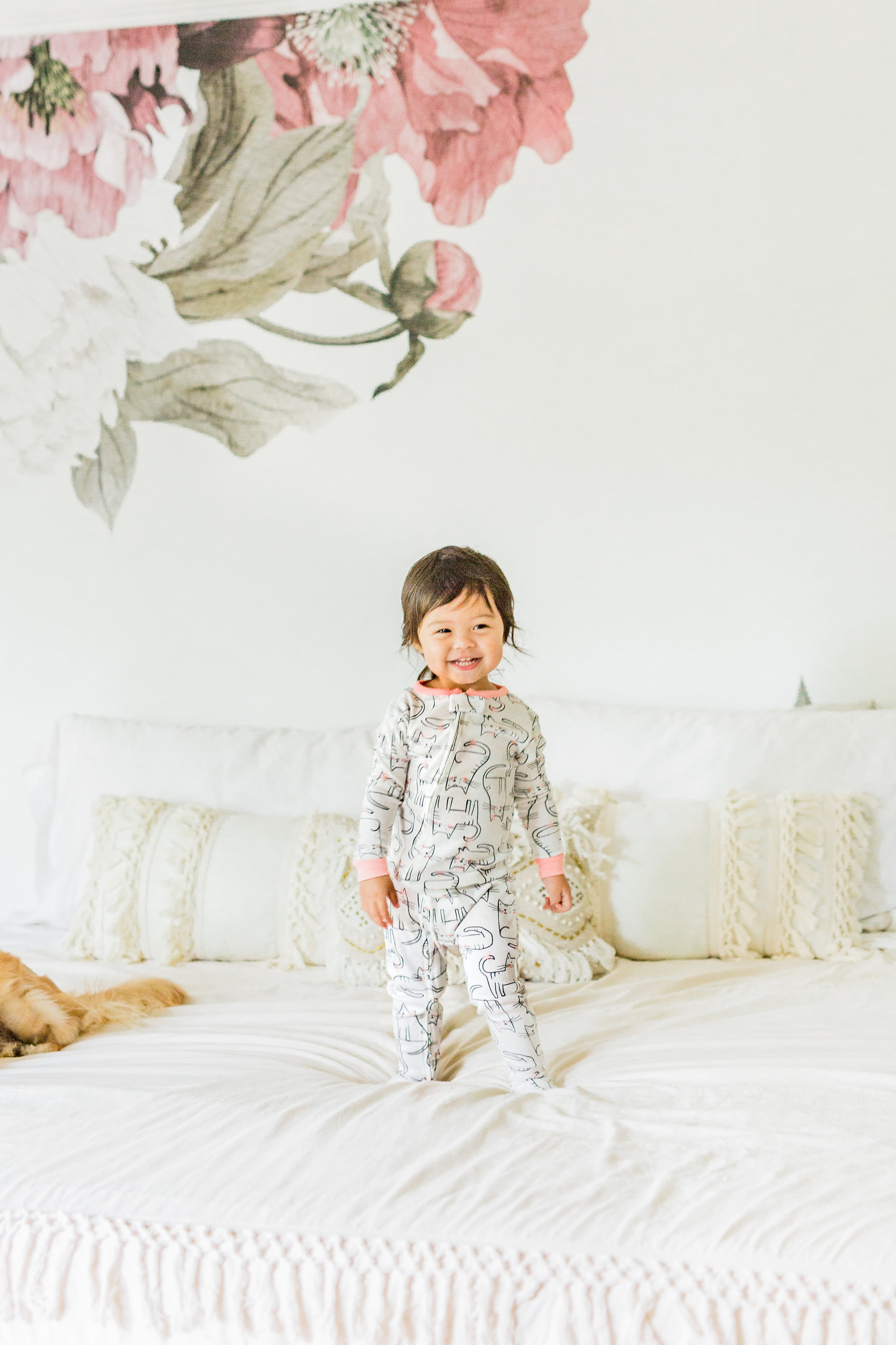 Carter's cat Pjs peony removable wall paper macrame duvet