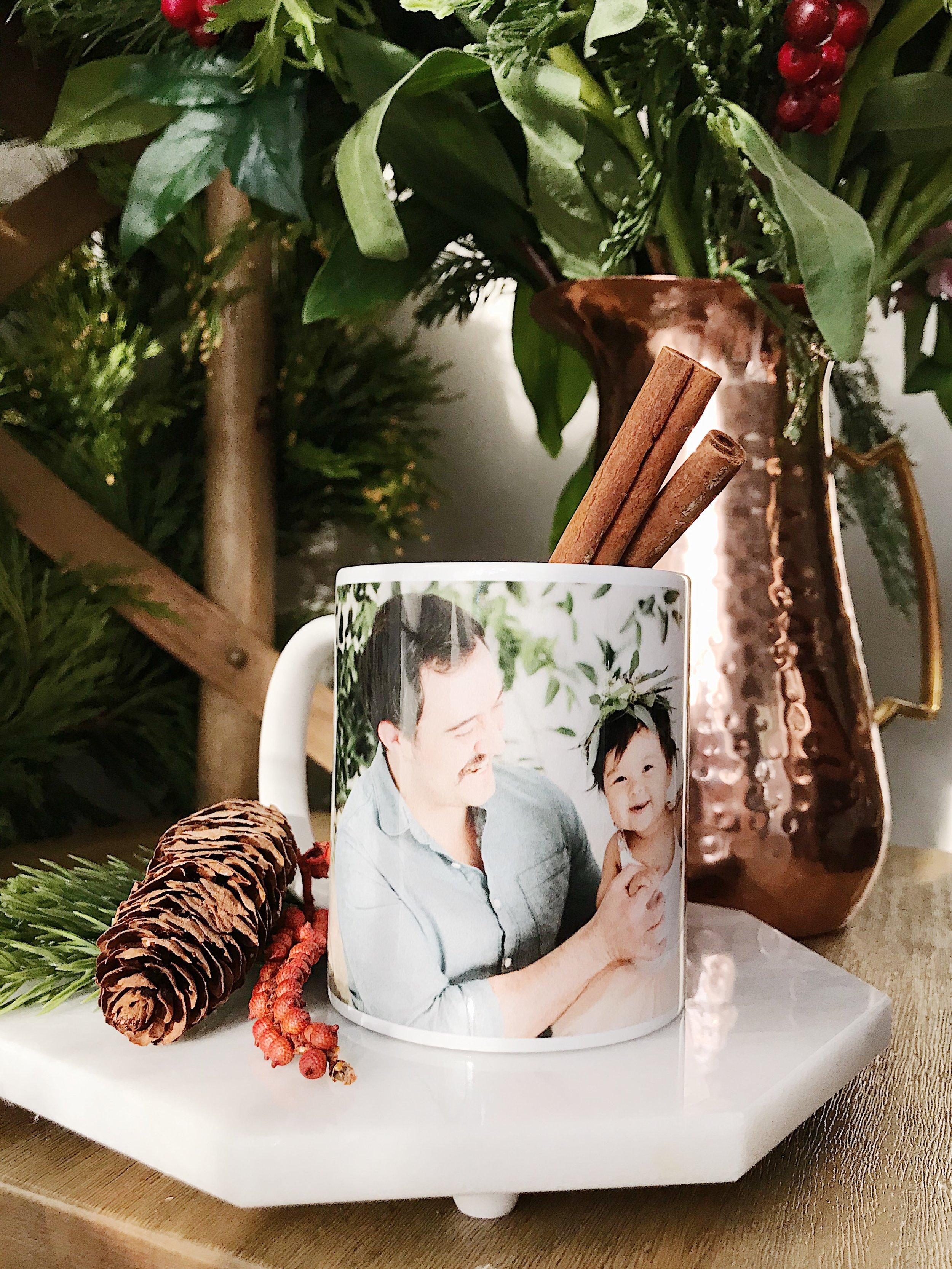Custom photo mug gift idea fathersday christmas