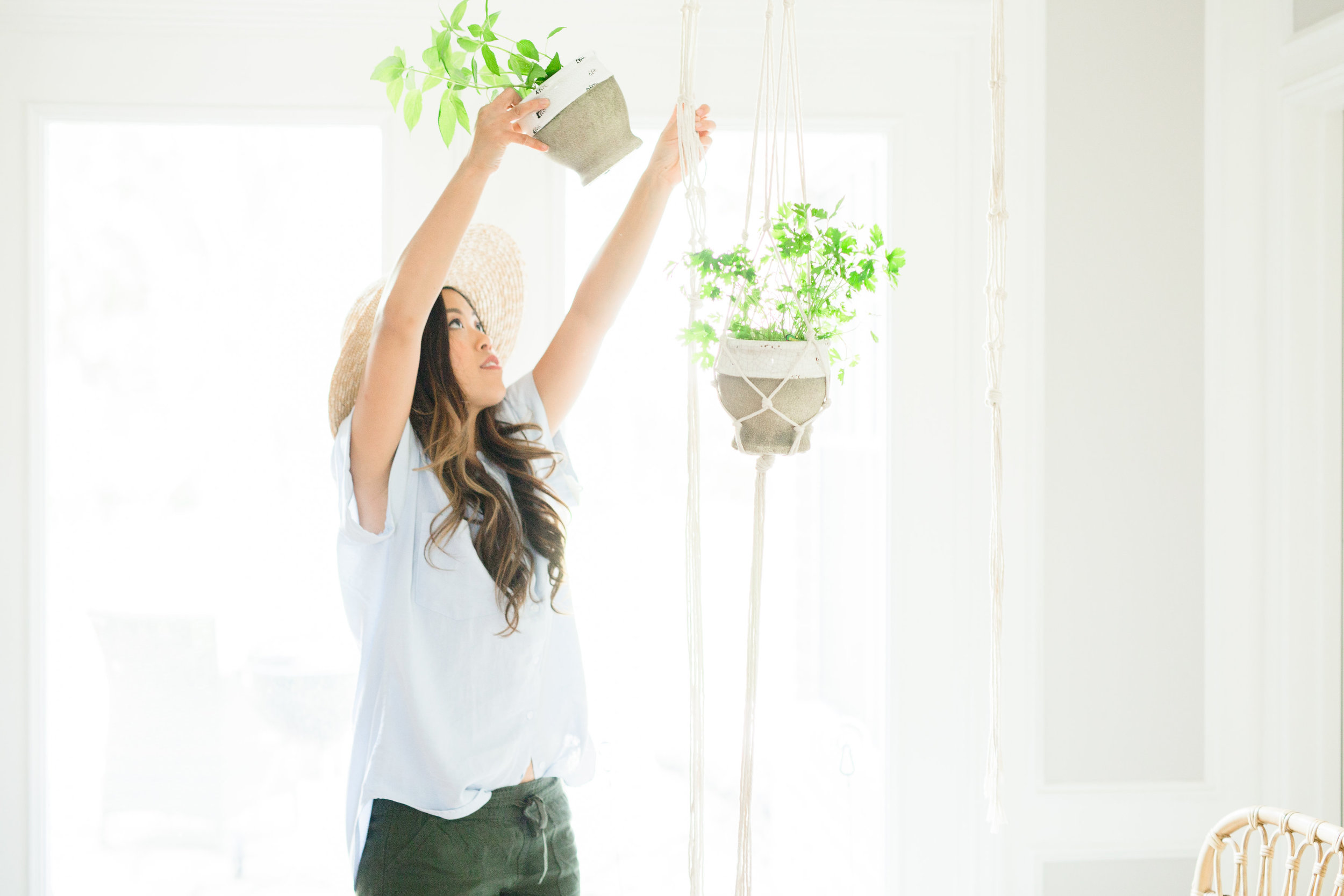 Joyfullygreen Miracle-Gro Bonnie Plants Herb Garden Plant Macrame Hanger DIY