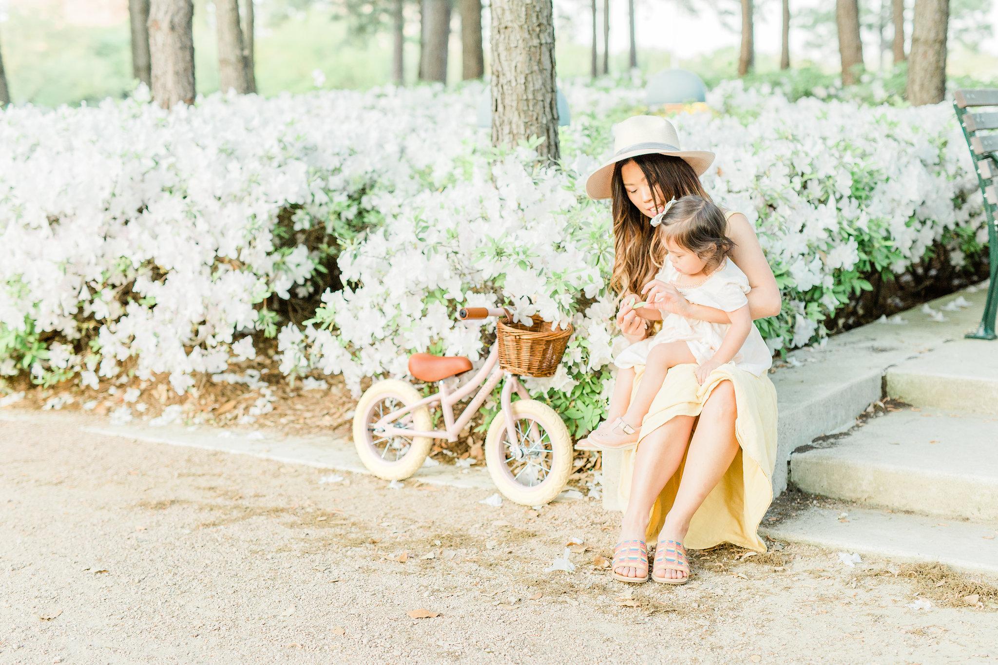 Joyfullygreen Comfortiva Brileigh Houston Azalea Trail Photoshoot Louise Misha Banwood Bike 2.jpg