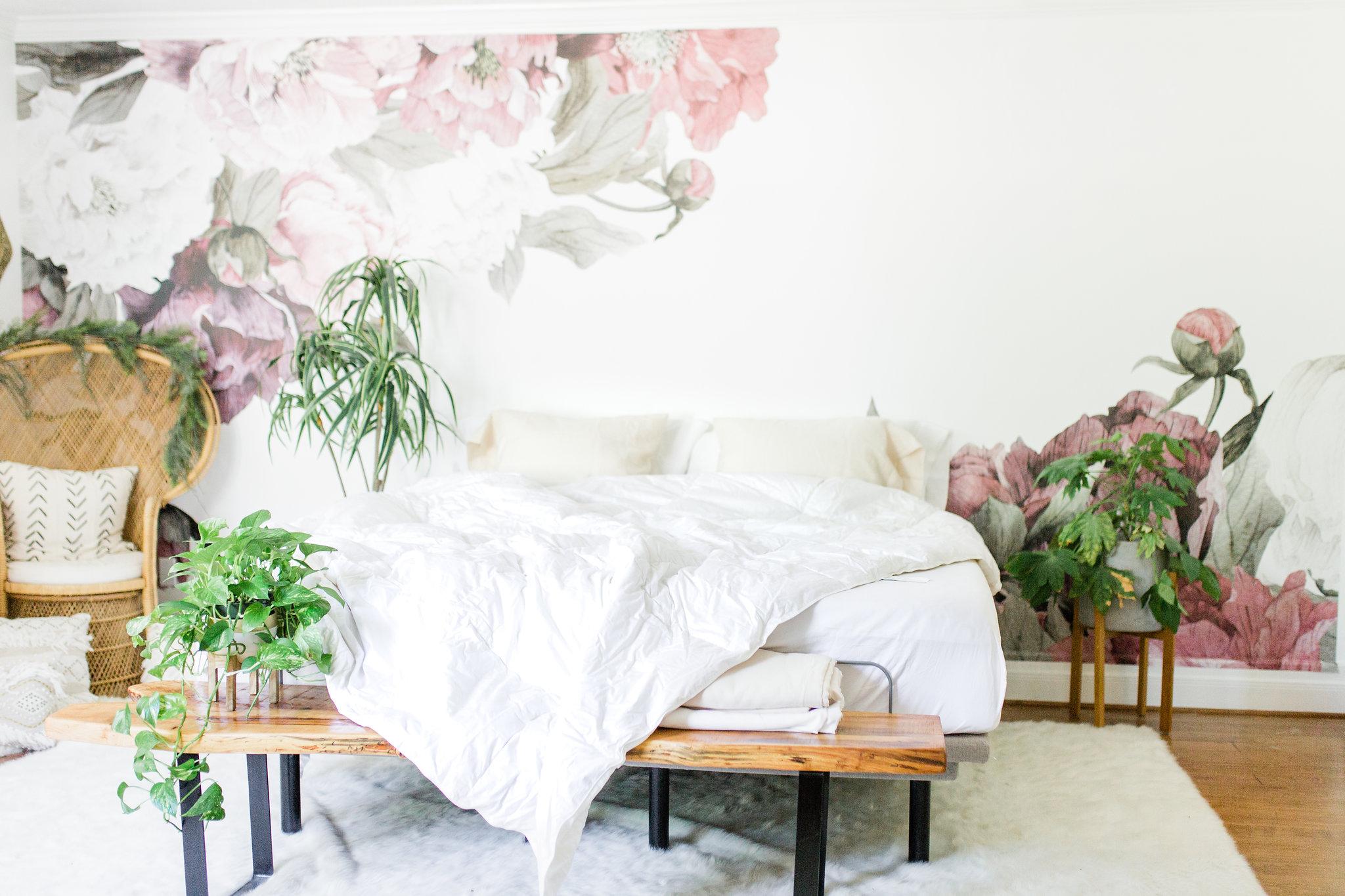 How to Get Better Sleep 3 Quality Bedding Basics To Build your Sanctuary The Company Store Review Joyfullygreen 4 linen duvet cover boho bedroom.jpg
