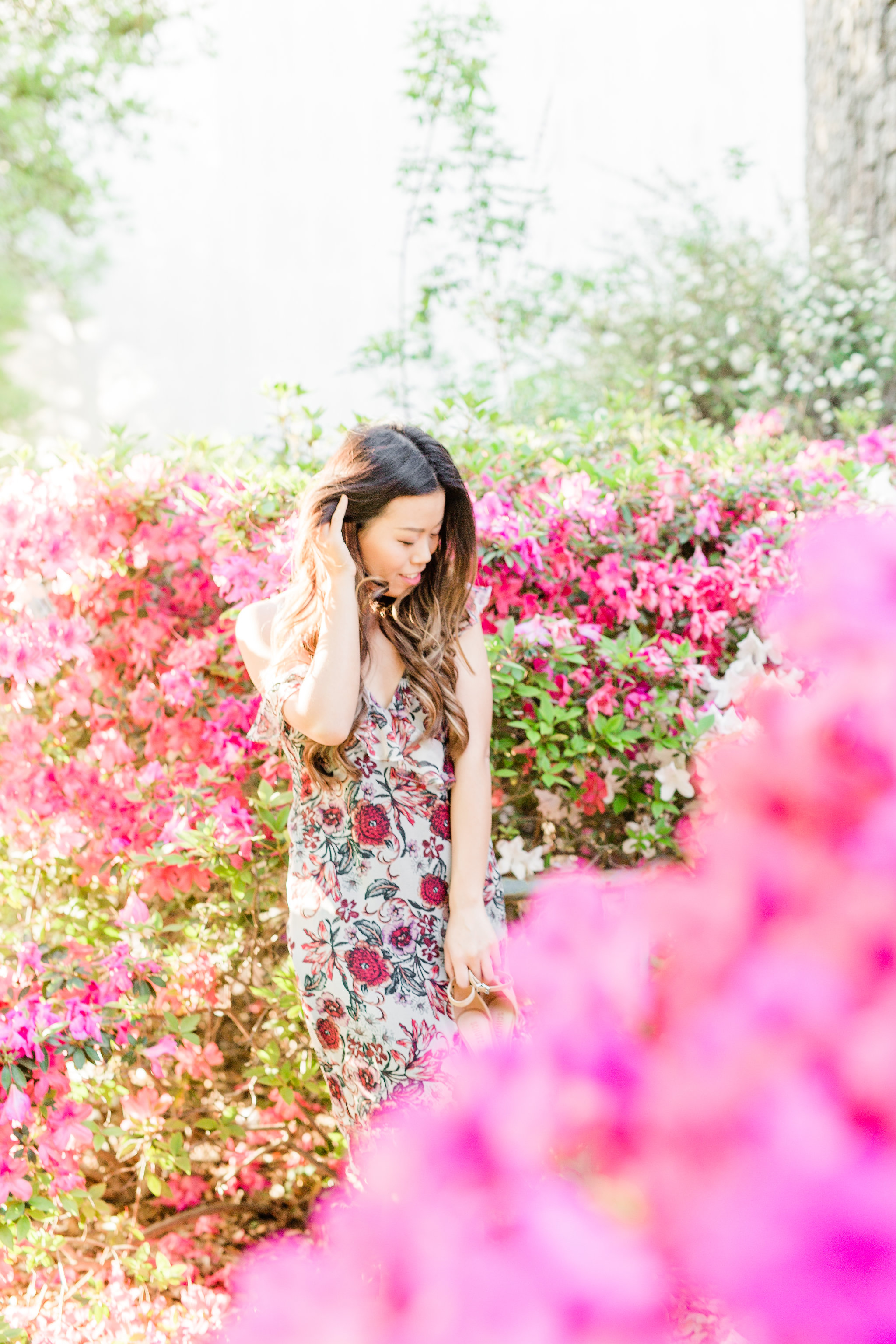 oyfullygreen First Tim Stitch Fix Spring Summer Review with Coupon Code Silk floral dress date night.jpg