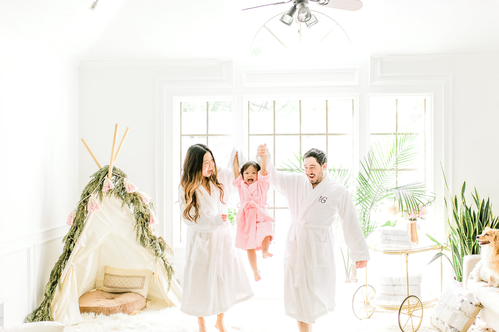 Joyfullygreen The Company Store Unisex White Fluffy Robe Monogramed Mother's Day Gift Idea. Wall paper nursery inspirati.jpg
