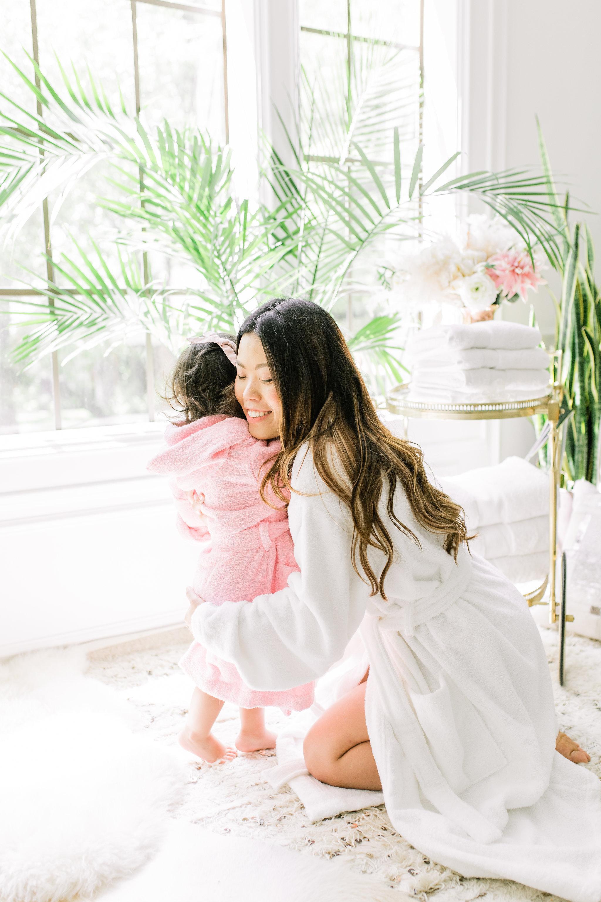 Joyfullygreen The Company Store Unisex White Fluffy Robe Monogramed Mother's Day Gift Idea..jpg