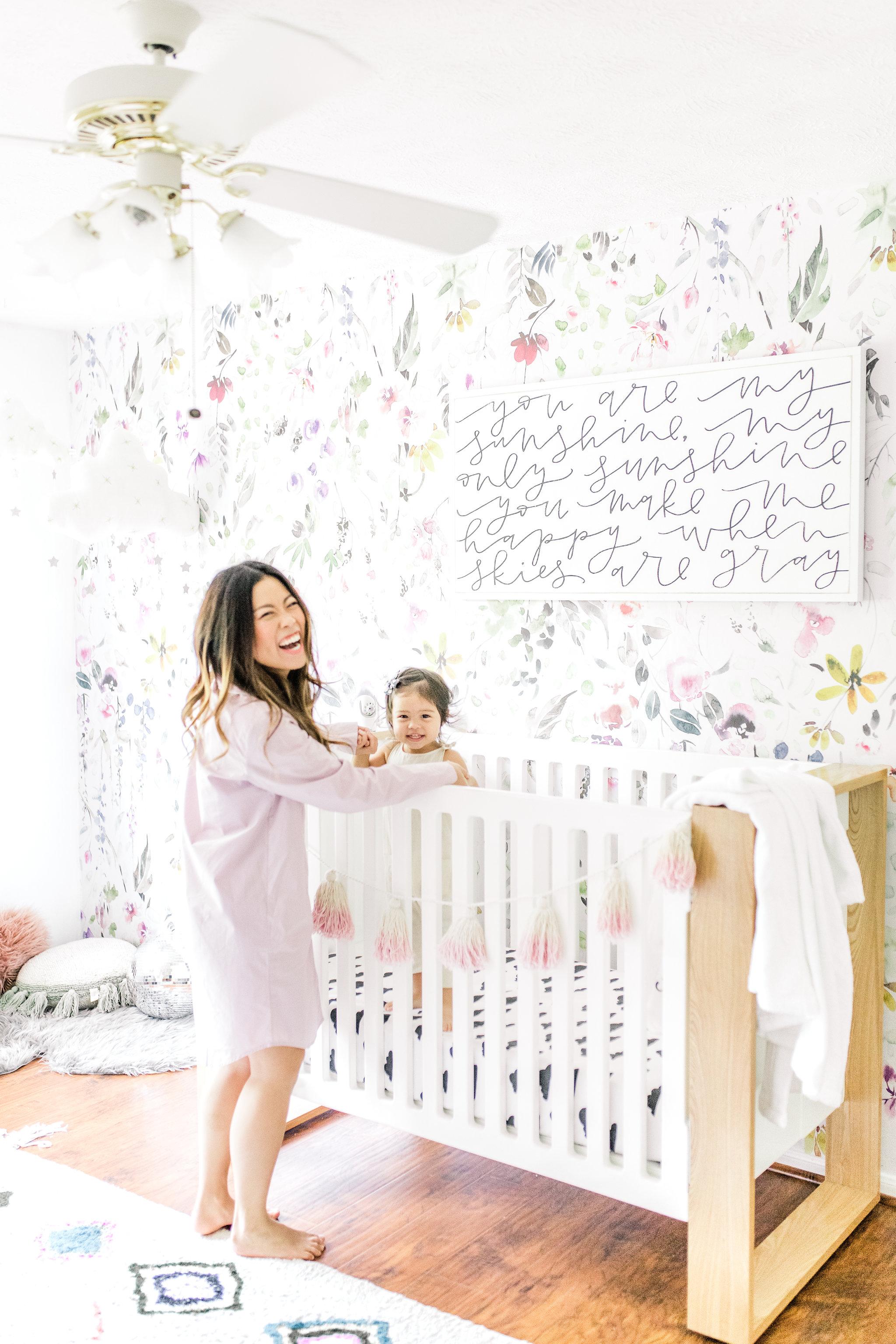 Joyfullygreen The Company Store Unisex White Fluffy Robe Monogramed Mother's Day Gift Idea. Wall paper nursery inspiration.jpg