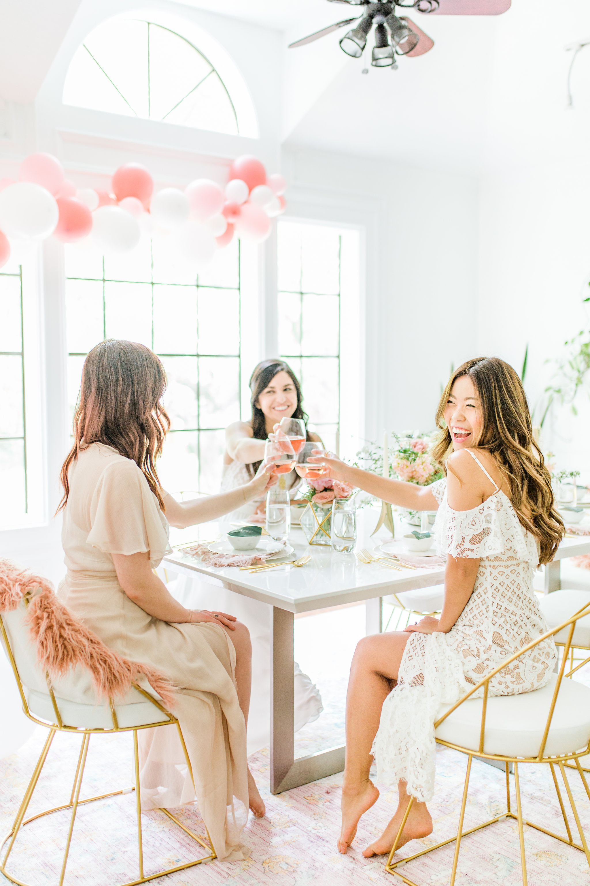 Olivia and Oliver Gold, Blush and Greenry Plants Gilded Garden Styled Bridal Shower Brunch with Bed Bath Beyond bridal shower ideas with pink ballons Joyfullygreen.jpg