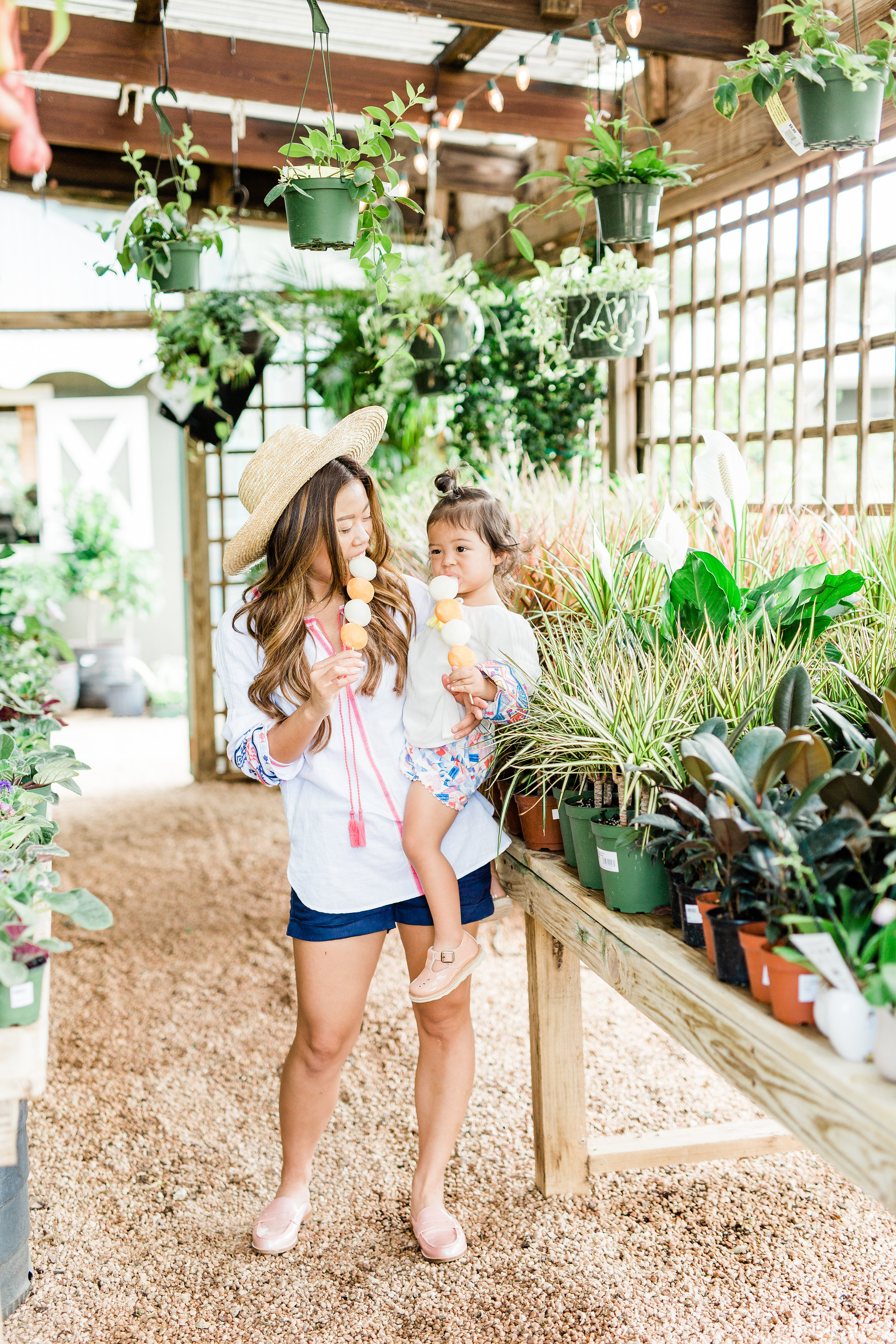 Joules Mommy and me Matching Outfit French Navy Kat Linen Shorts White Creme Yolanda Long Sleeve Embroidered Top 1.jpg