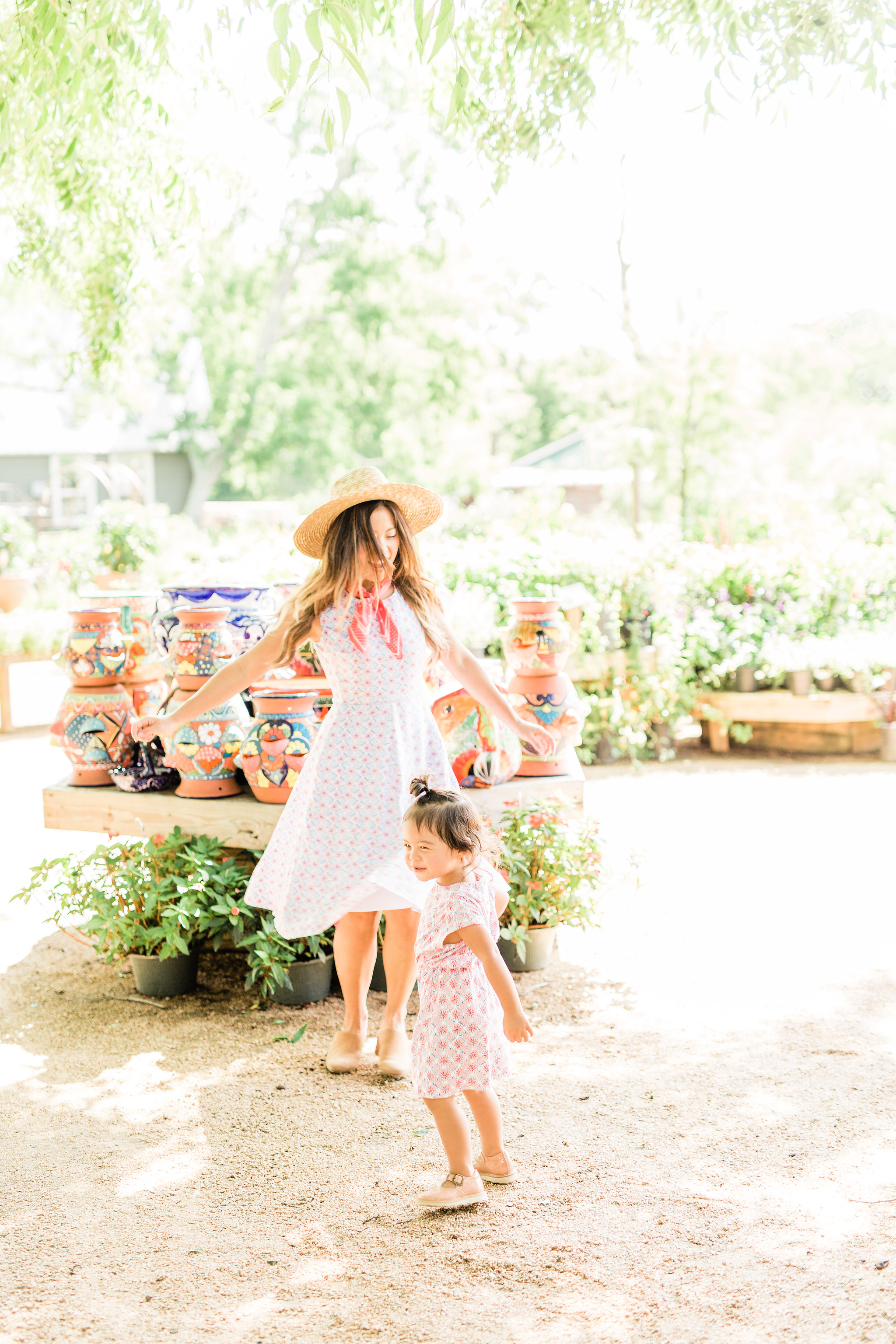 Joules Amelie Fit & Flare Mosaic Dress Mommy and Me Matching Twinning Outfit ream Summer Mosaic Annabelle Jersey Dress 2.jpg