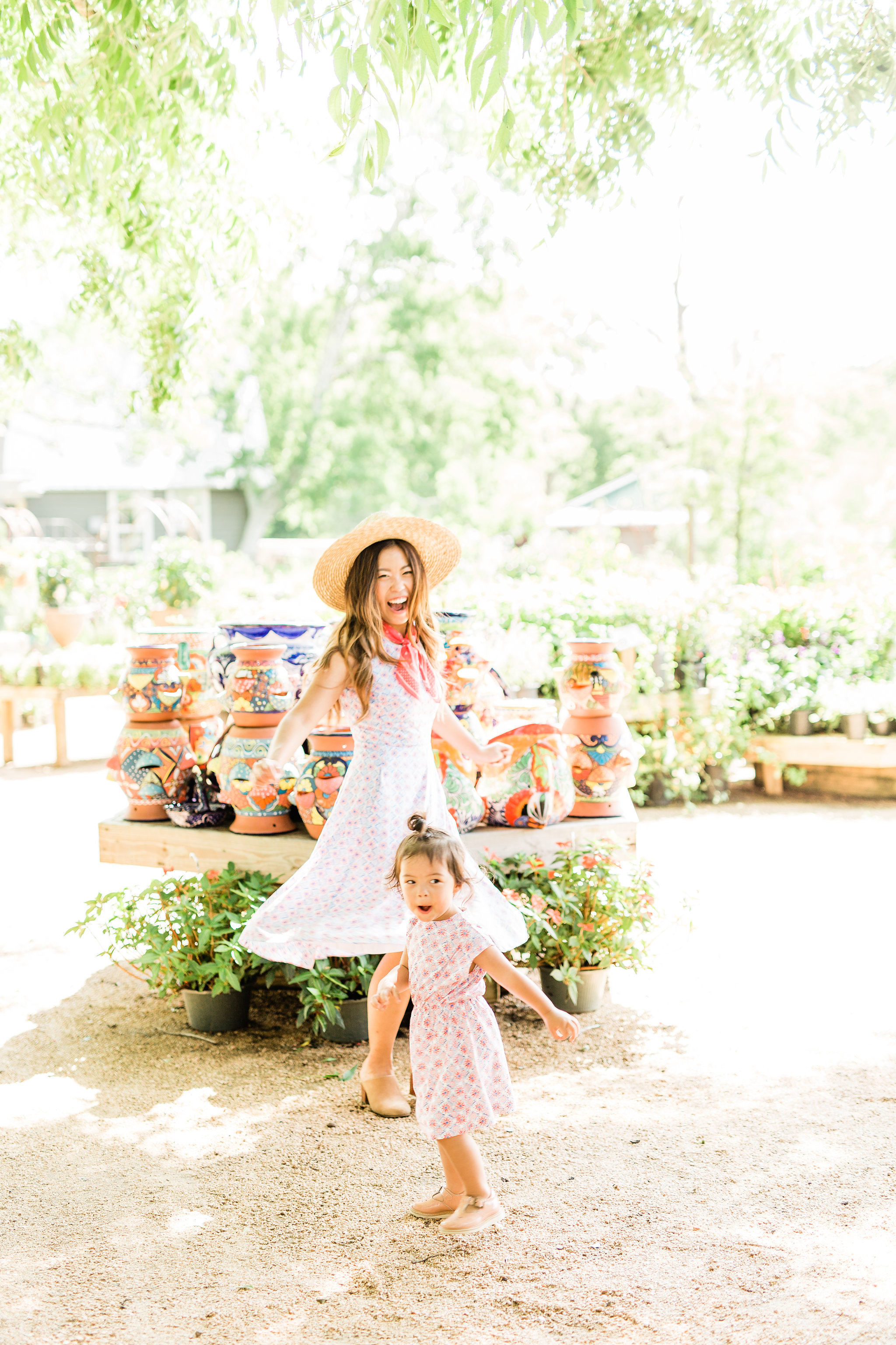 Joules Amelie Fit & Flare Mosaic Dress Mommy and Me Matching Twinning Outfit ream Summer Mosaic Annabelle Jersey Dress 1.jpg