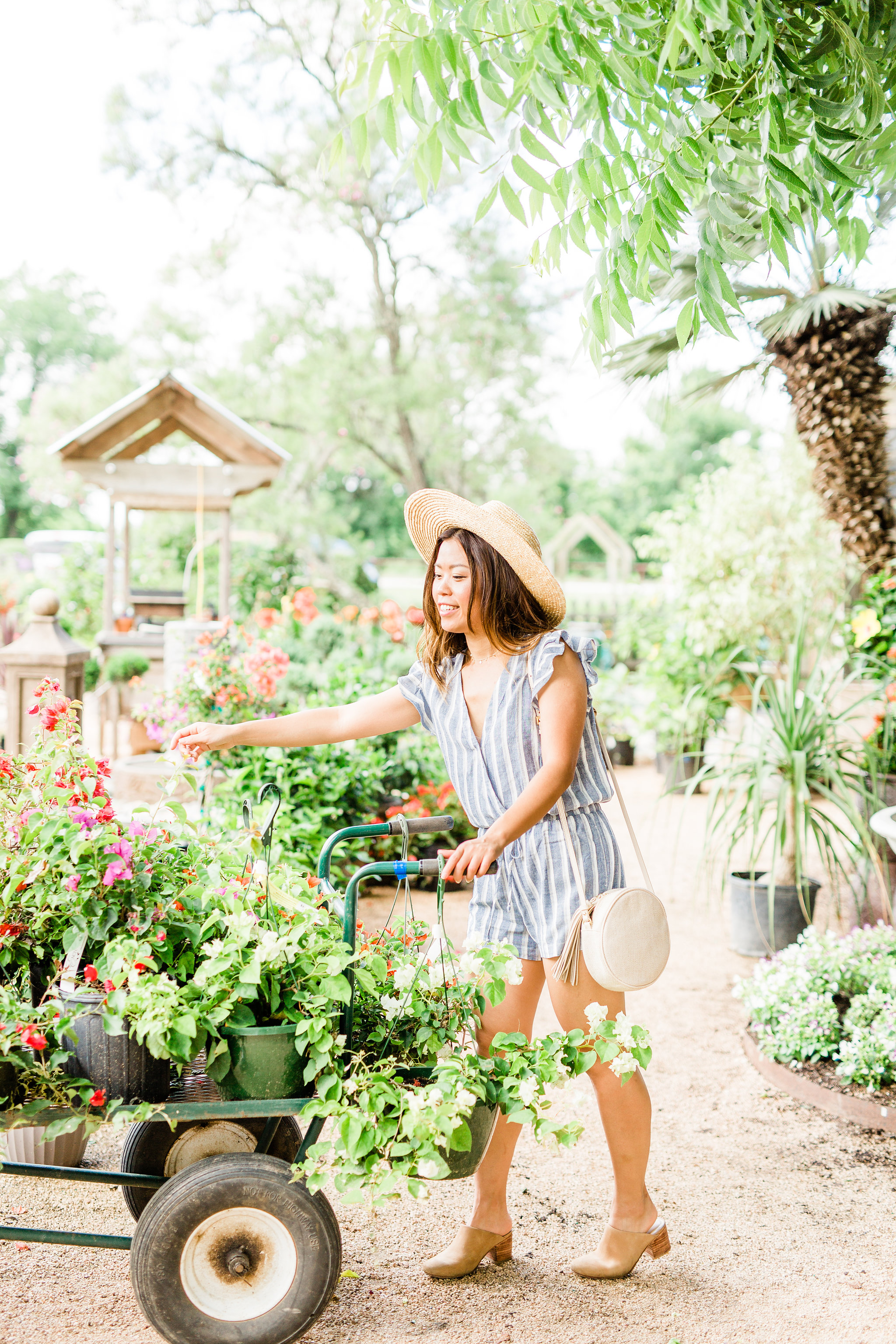 Stitch Fix Review what to wear for summer travel blue striped romper.jpg