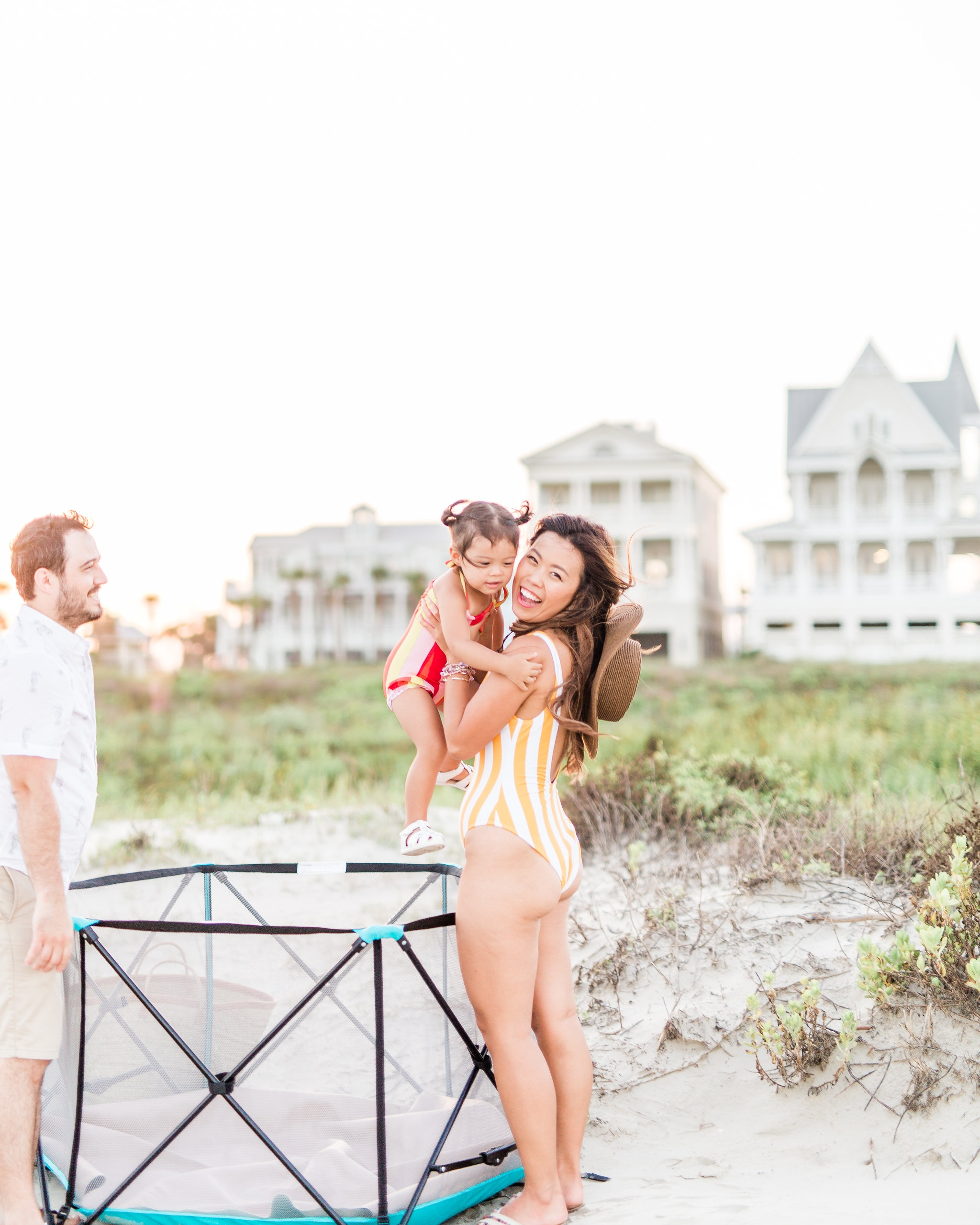 Regalo Baby My Play Review Galveston Traveling Tips with Kids Family Vacation