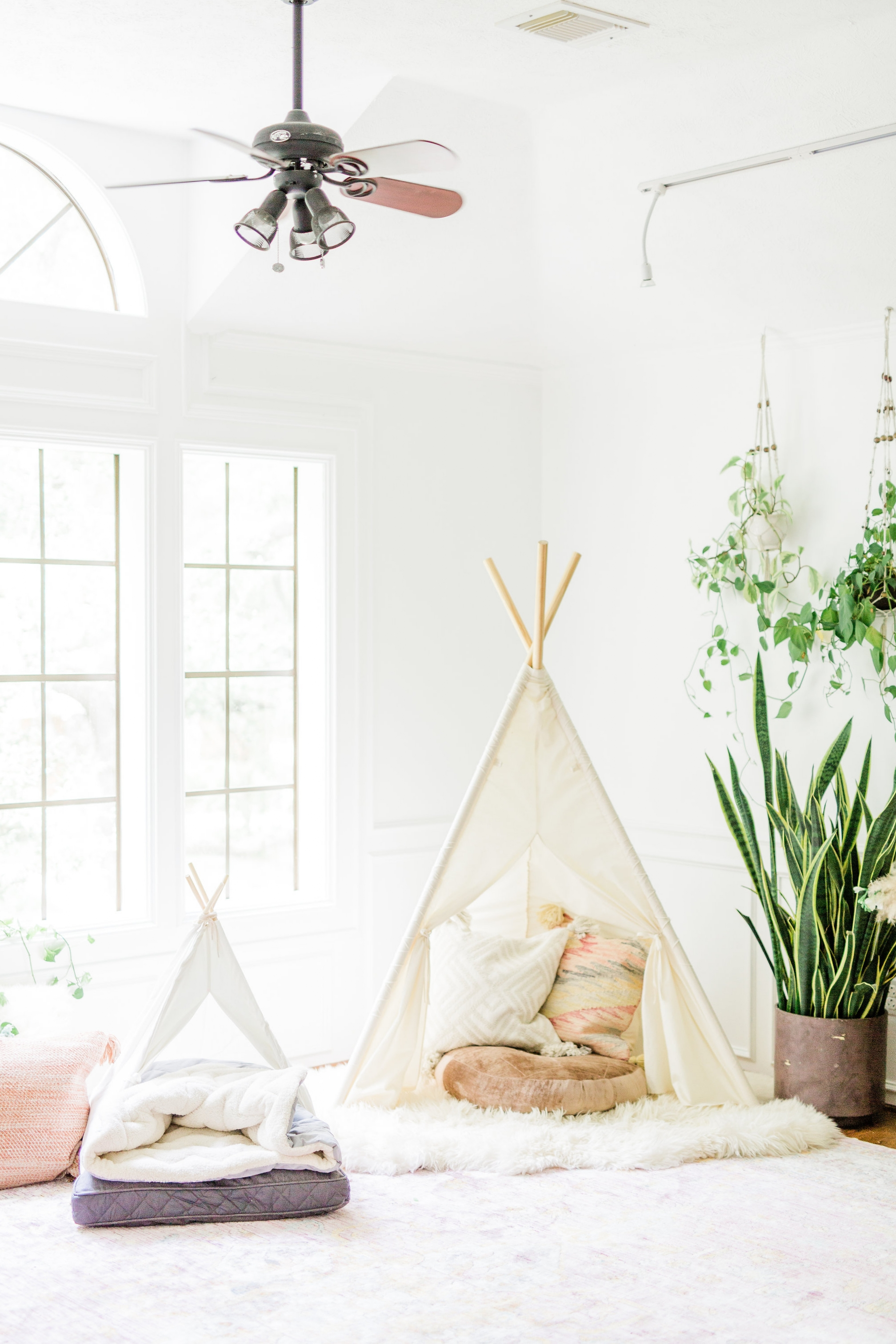 3 ways to create a welcoming and relaxing space for your new puppy on National Dog Day Pet Teepee Dog Bed decor modern nursery  ideas