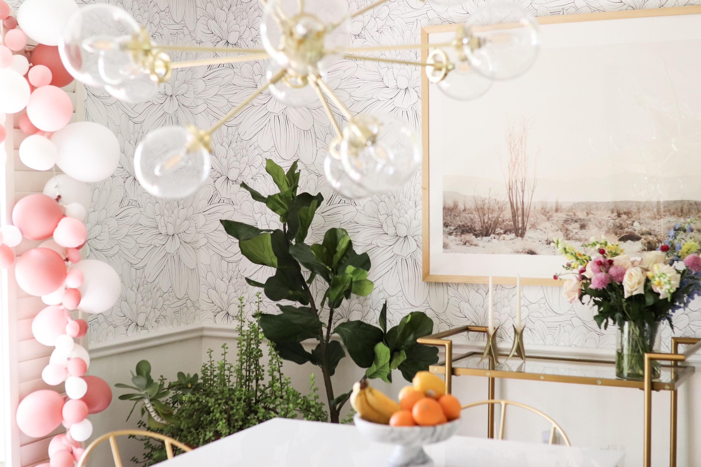 Home decor blogger Joyfullygreen wallpaper dining room makeover how to choose art with minted -12.jpg