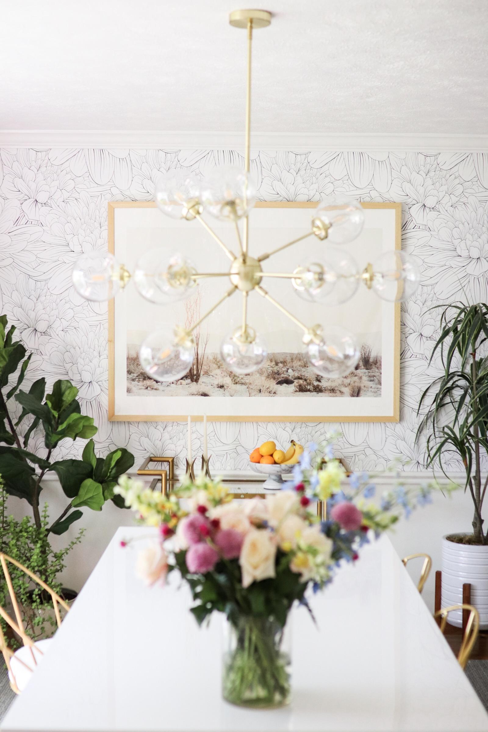 Home decor blogger Joyfullygreen wallpaper dining room makeover how to choose art with minted -02.jpg
