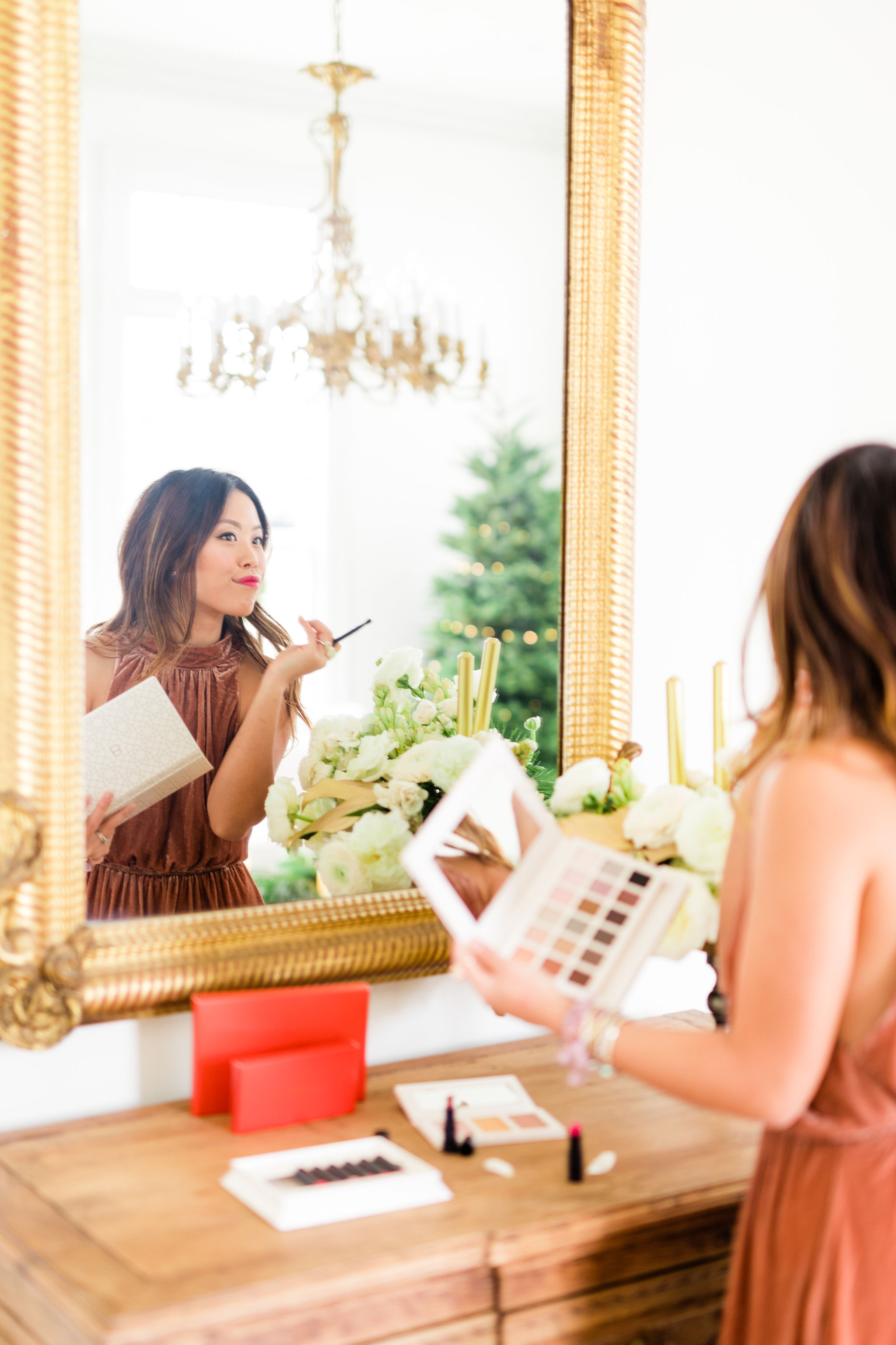 Clean non-toxic saver Beauty Holiday Makeup tutorial for asian complexion beautycounter review