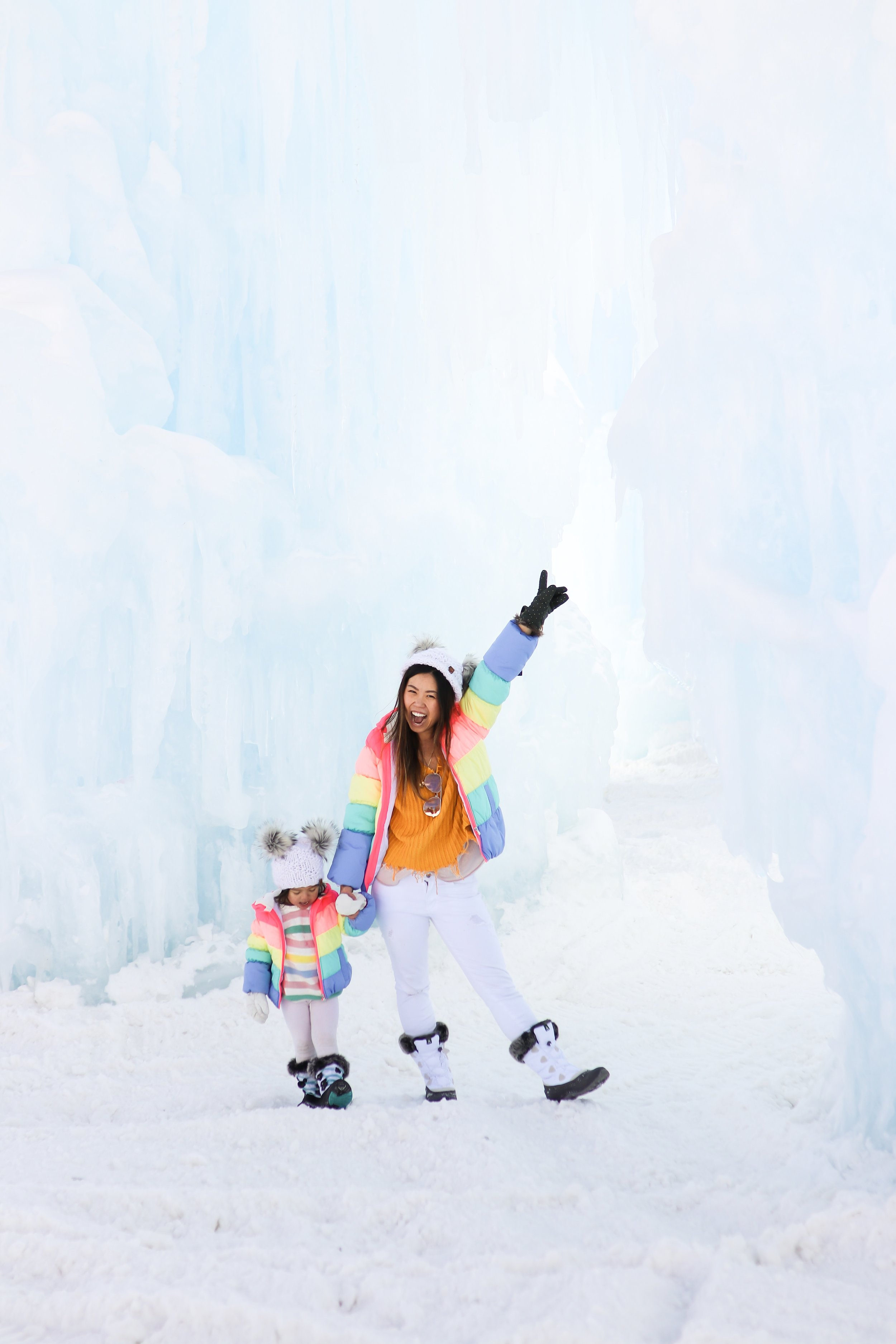 4 Days in Vail Colorado with a Toddler - How to Prepare for Baby's First Ski Trip and 5 Winter Family Activities Hotel Talisa Review Joyfullygreen Family Travel Blogger Ice Castles Dillon Colorado