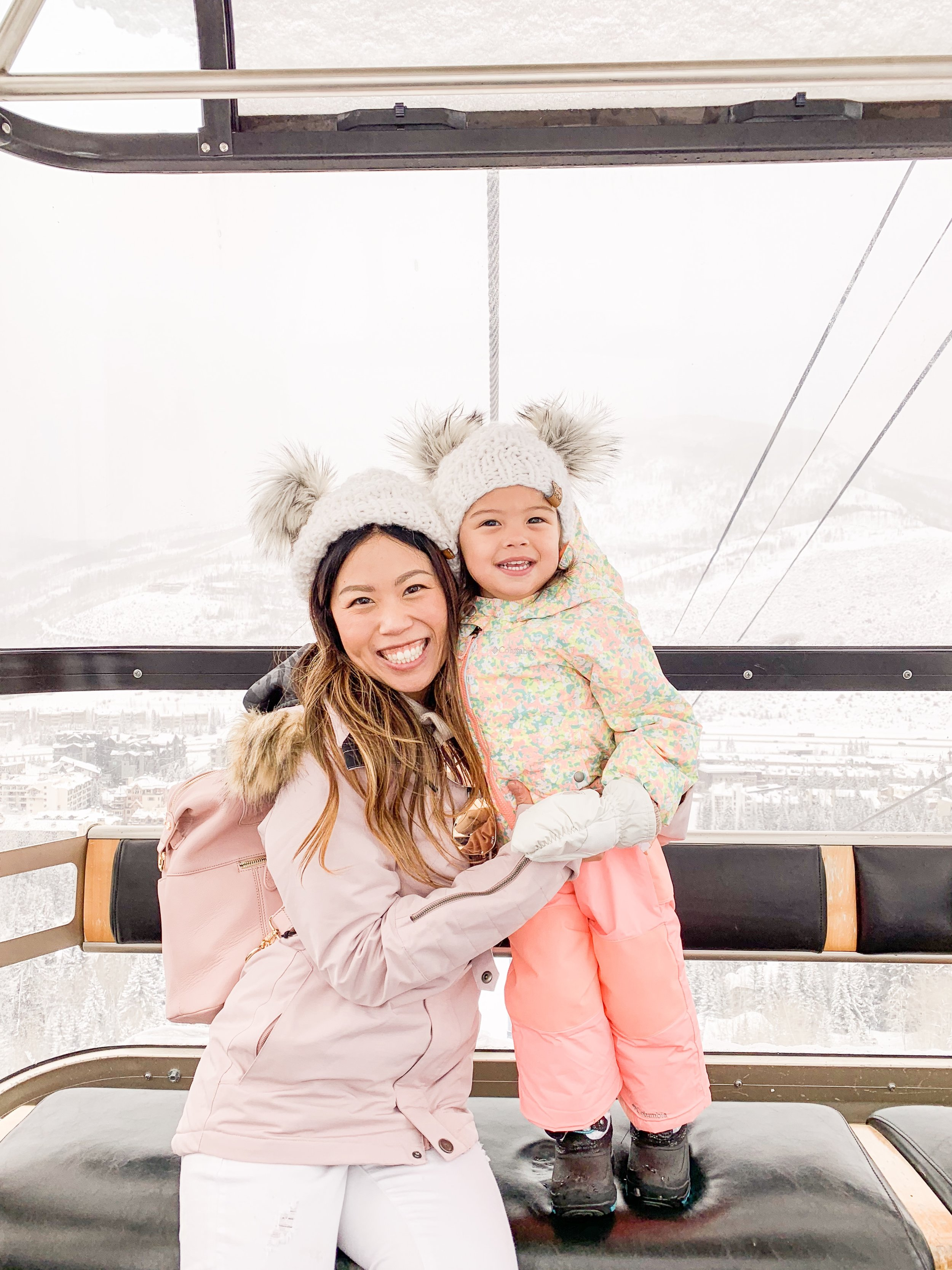 4 Days in Vail Colorado with a Toddler - How to Prepare for Baby's First Ski Trip and 5 Winter Family Activities Hotel Talisa Review Joyfullygreen Family Travel Blogger Gondola Ride