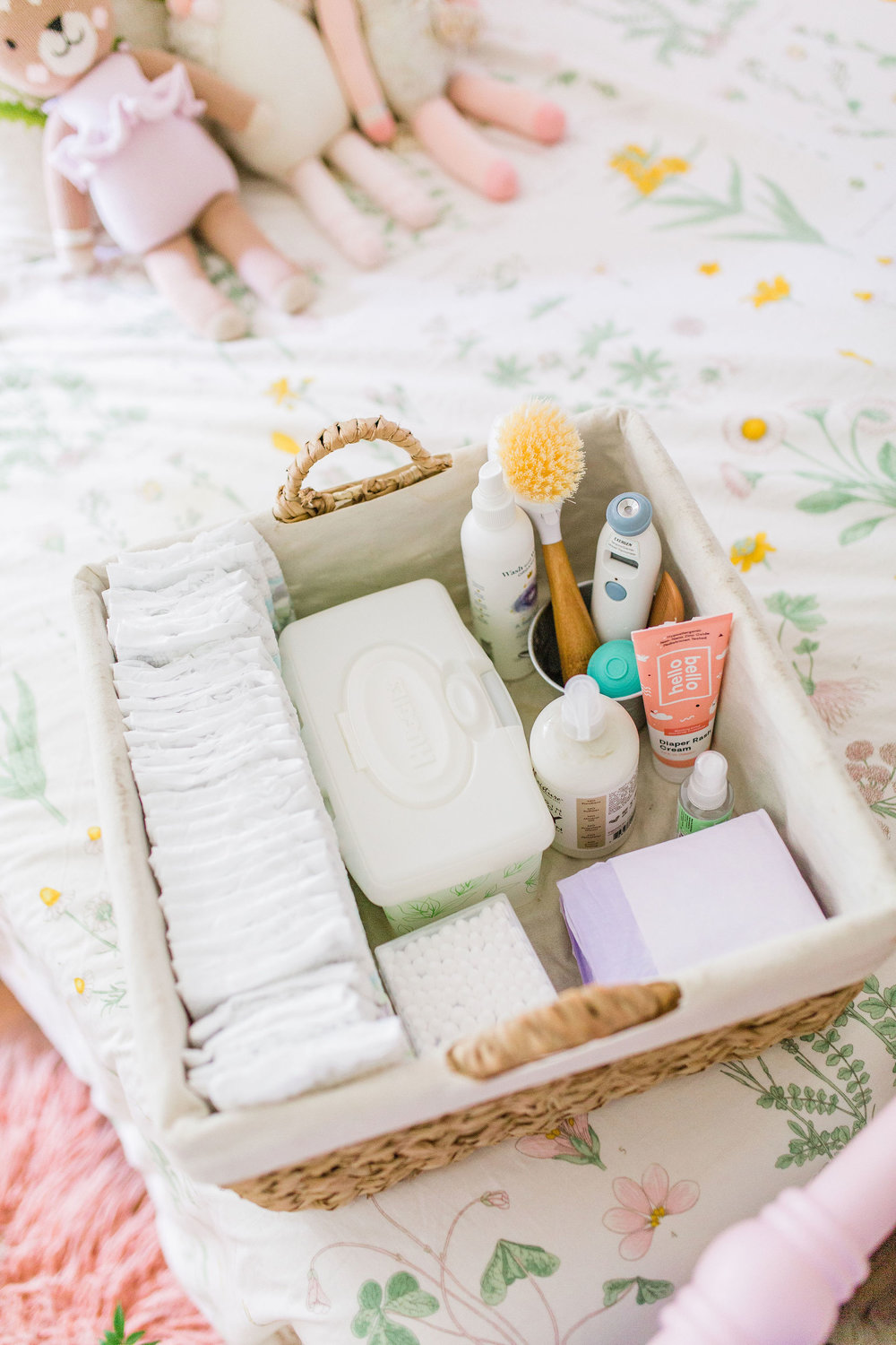 Diy Diapering Station Diaper Caddy For