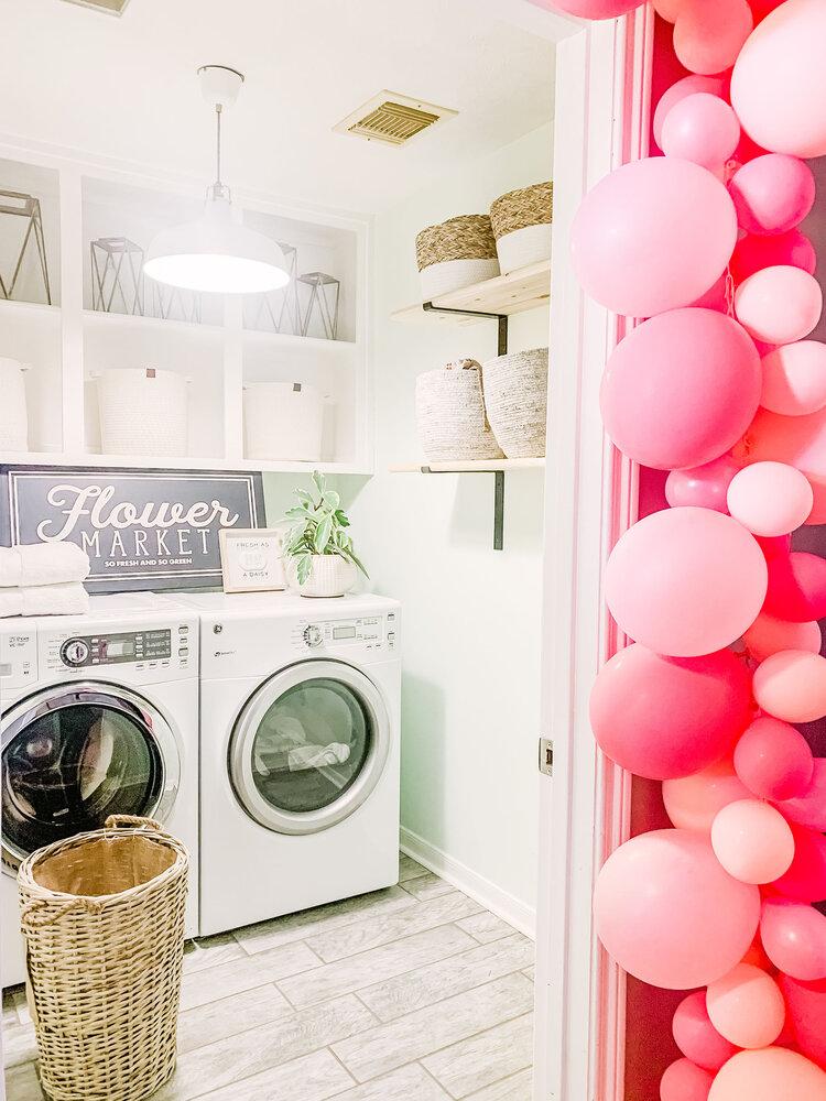 Laundry Room Makeover On A Budget Plus Diy Storage Shelves Joyfully Green