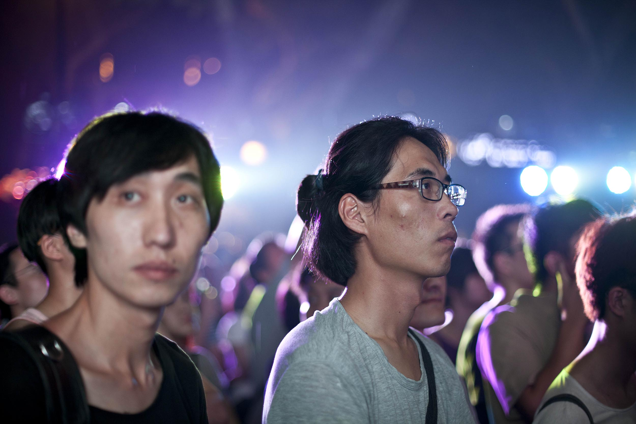 A photograph of young people at a concert Hangzhou, China  Photography for personal project