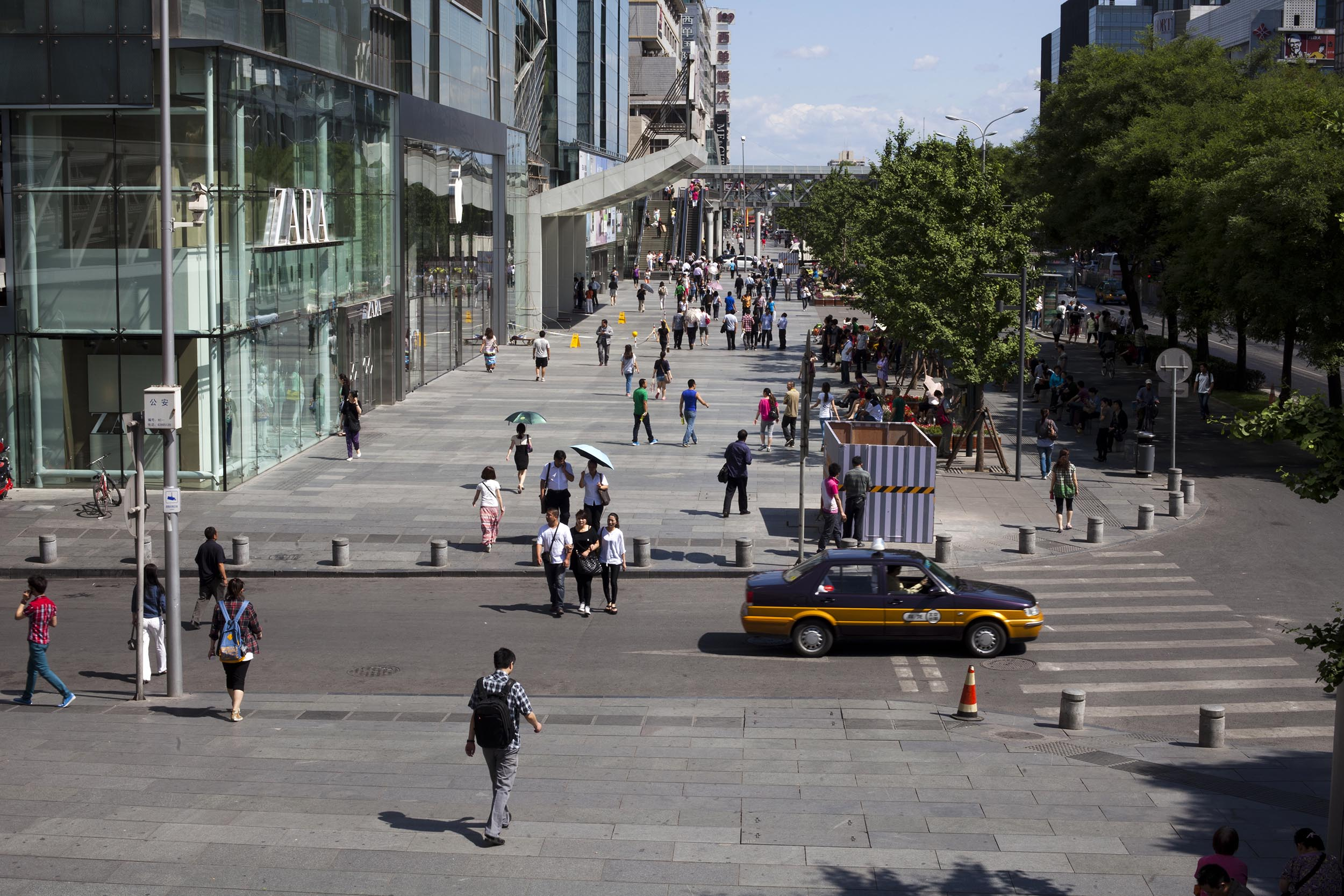 A photograph of a shopping district in Beijing, China  Photography for Beijing Government