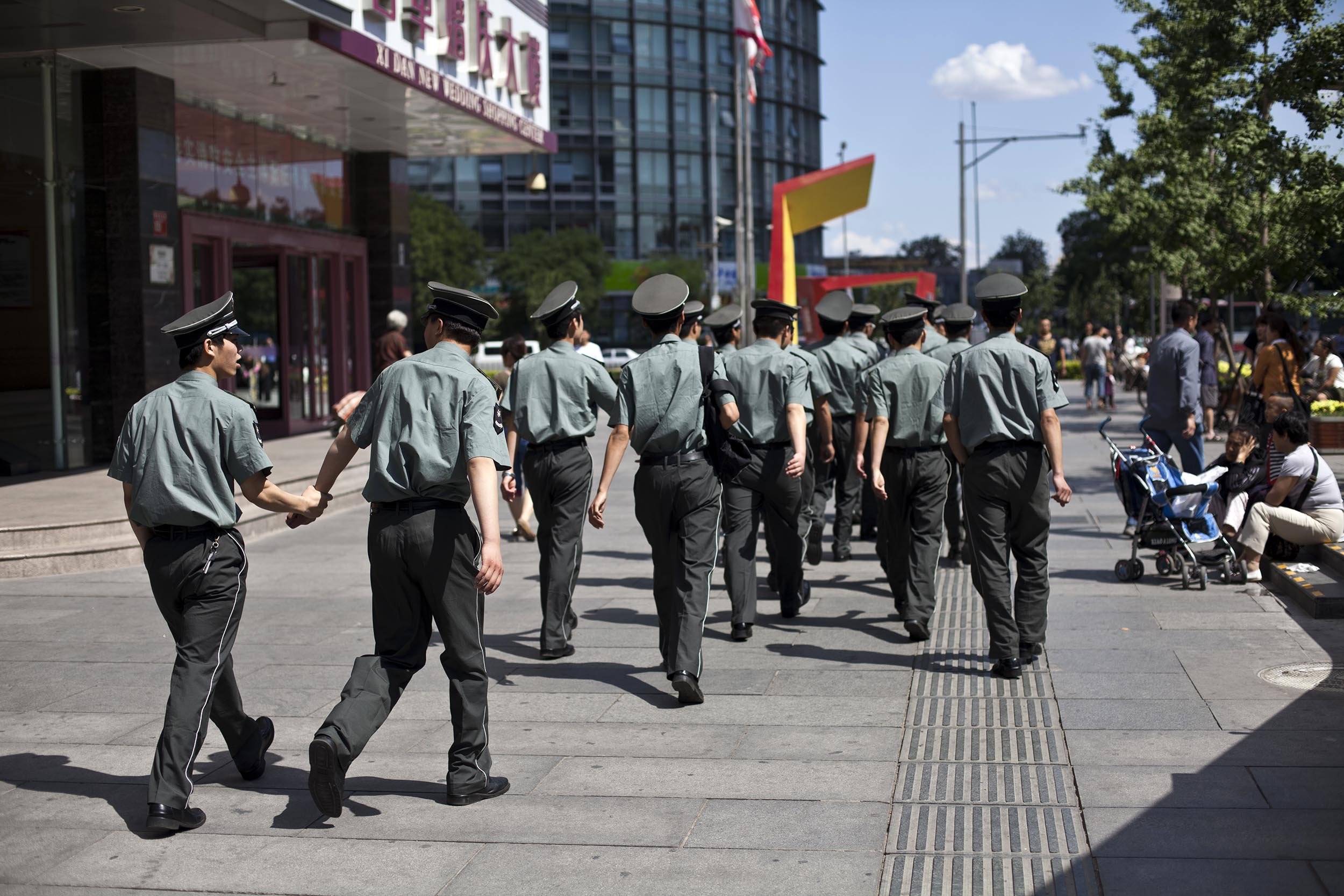 A photograph of soldiers in Beijing, China  Photography for Beijing Government