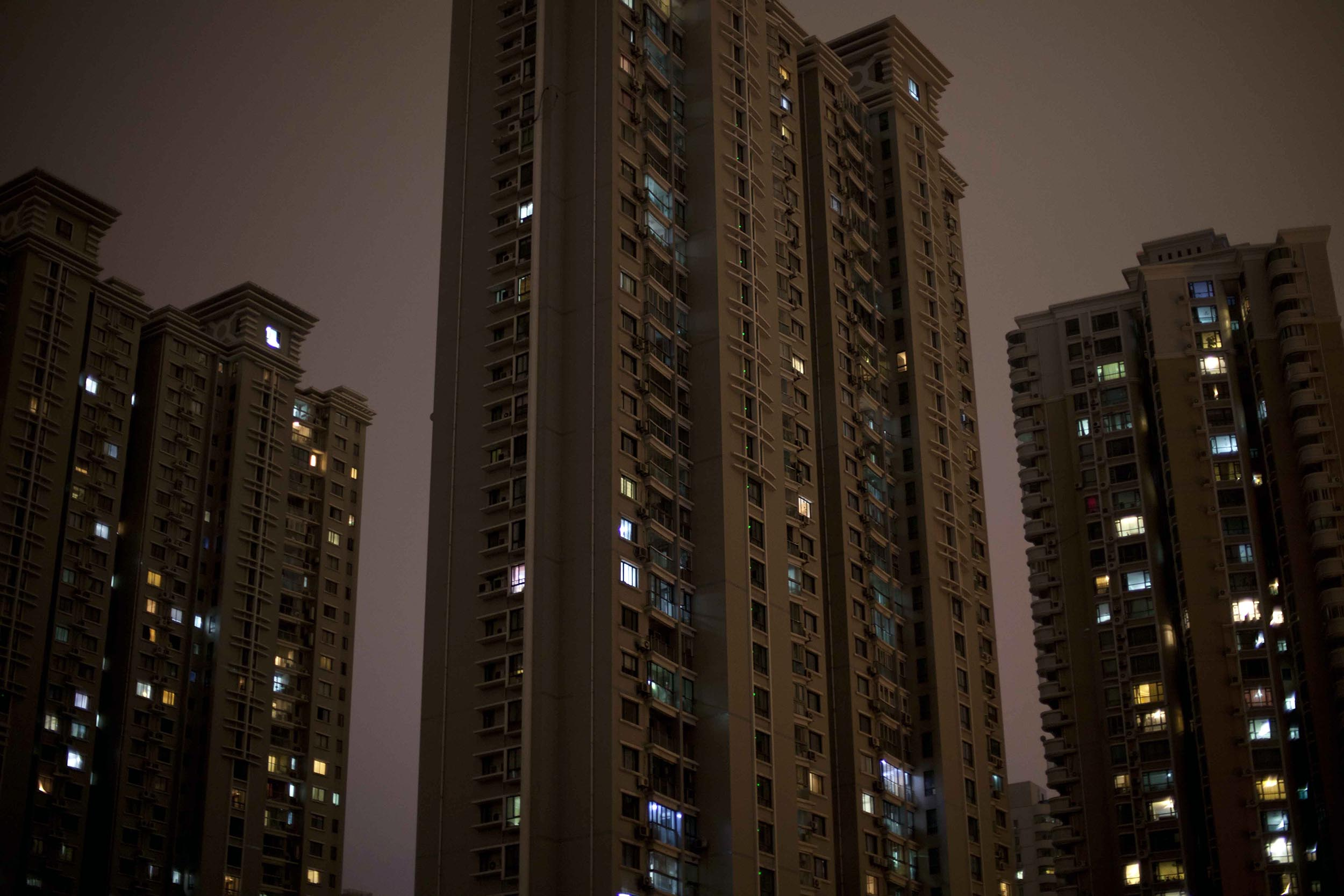 A photograph of skyscrapers at night Shanghai, China  Photography for personal project