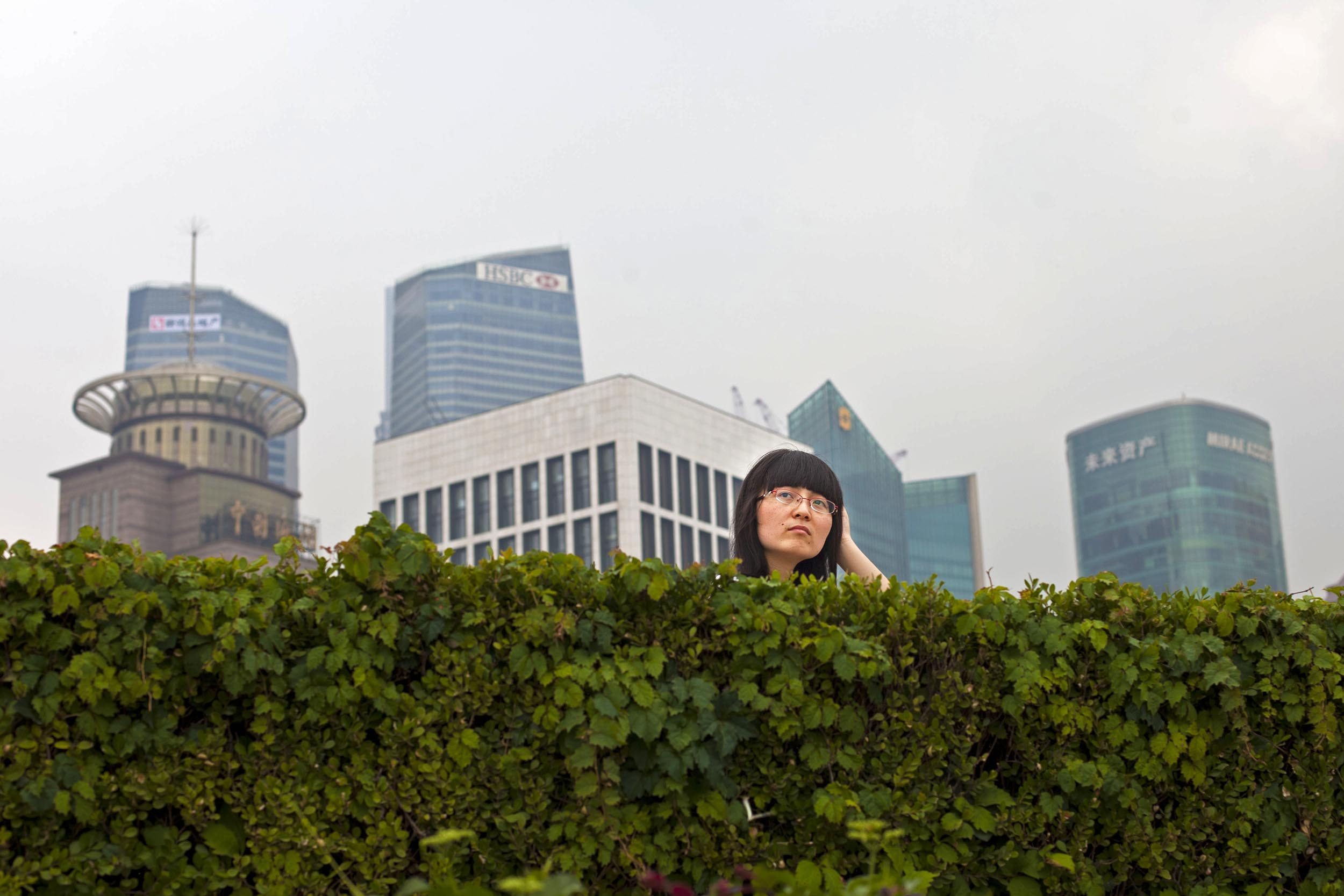 A photograph of woman in Shanghai, China  Photography for personal project