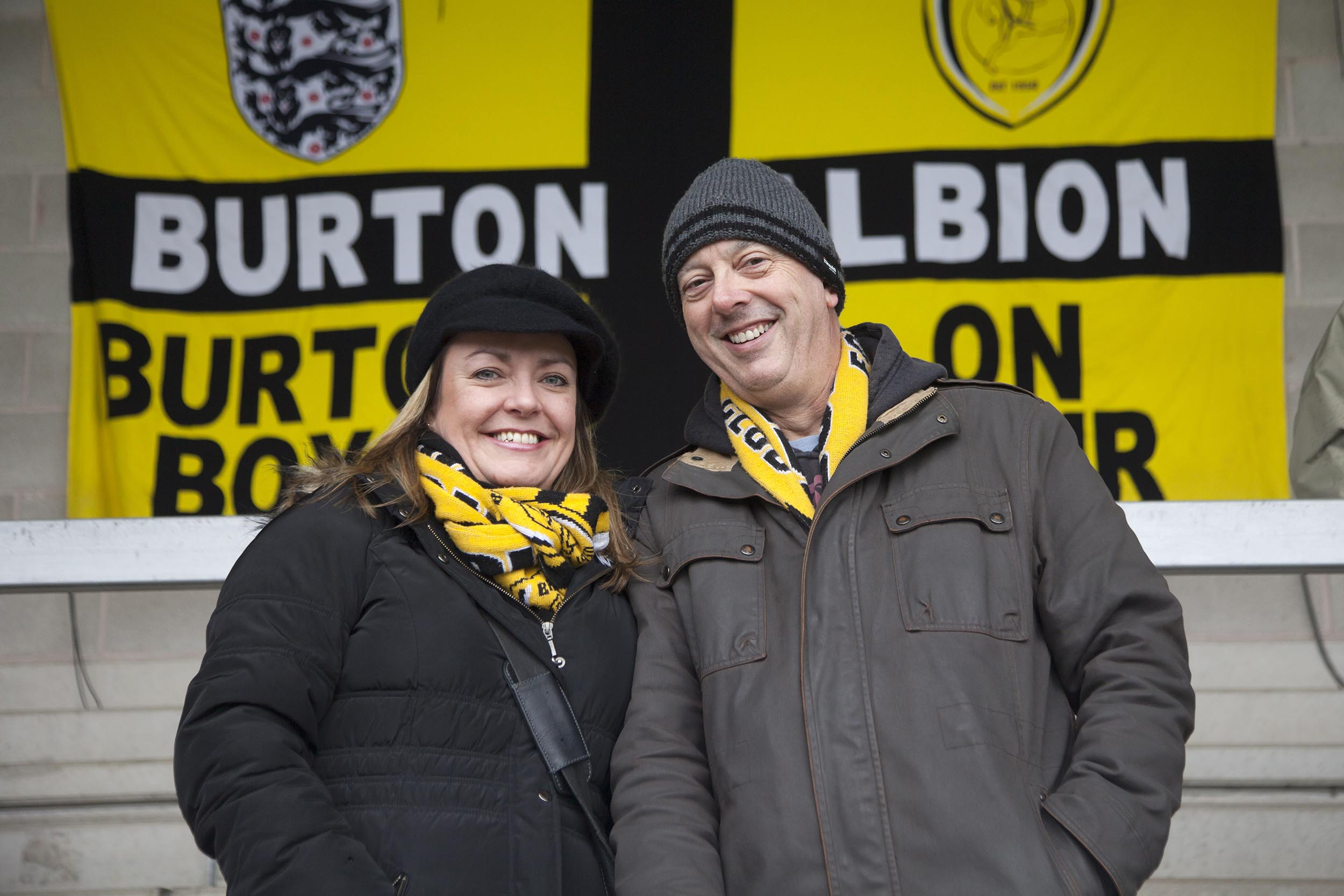 A documentary photograph of fans at Burton Albion  I was commissioned as documentary photographer by German football magazine 11 Freunde.
