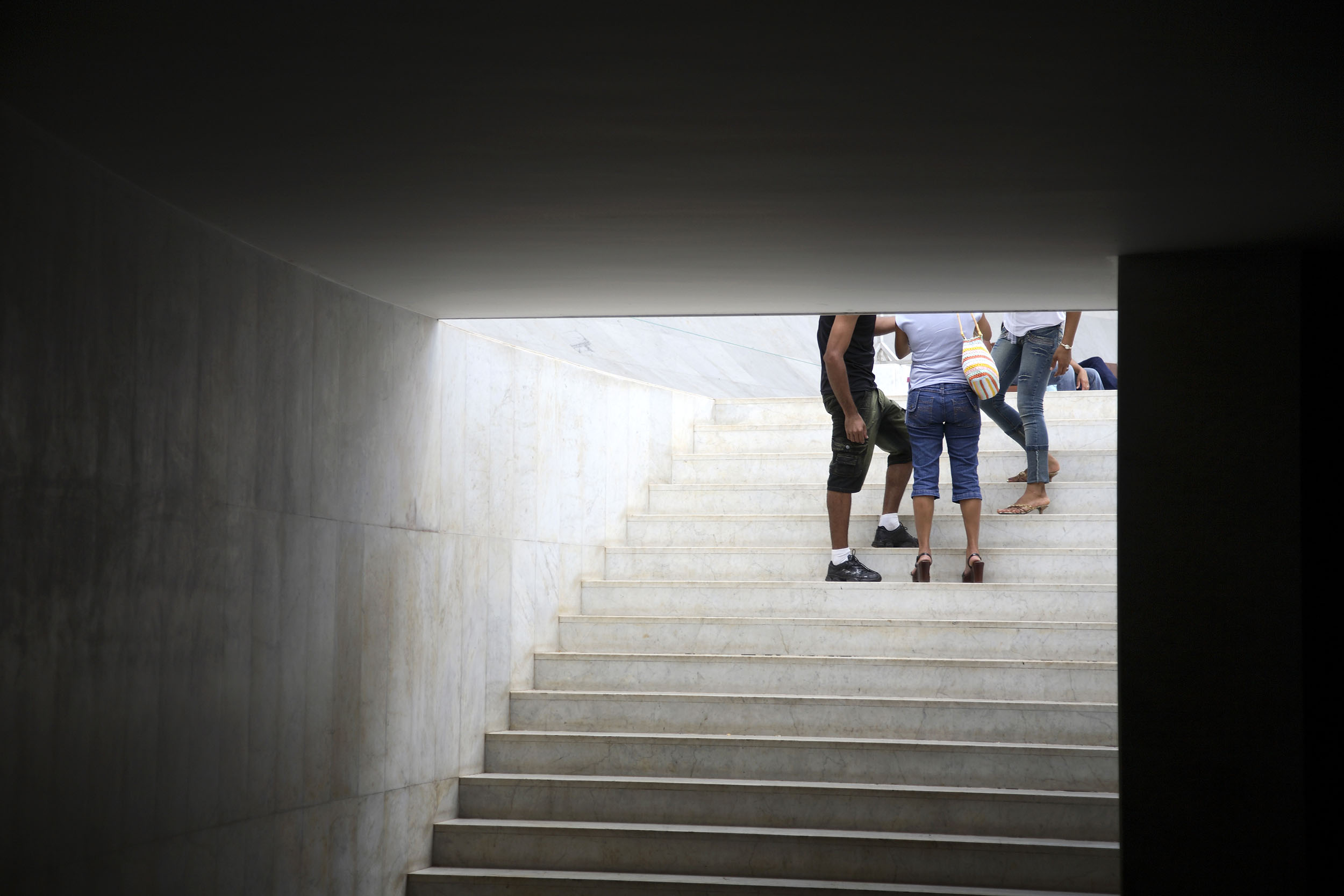 A documentary travel photograph taken in a cathedral, Brasilia,  Brazil.  Photography part of personal project