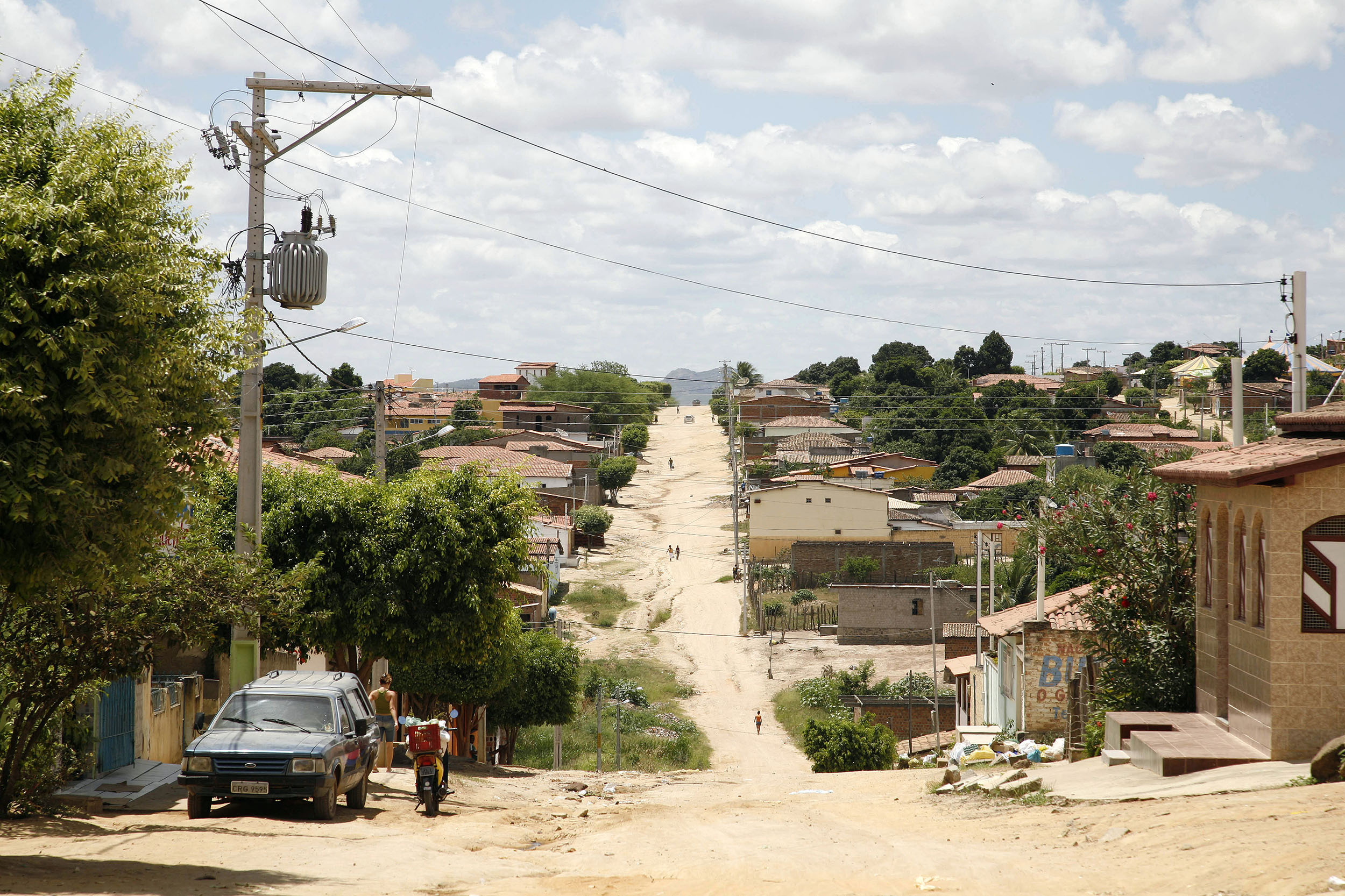 A documentary travel photograph taken from a bus in Minas Gerais, Brazil.  Photography part of personal project