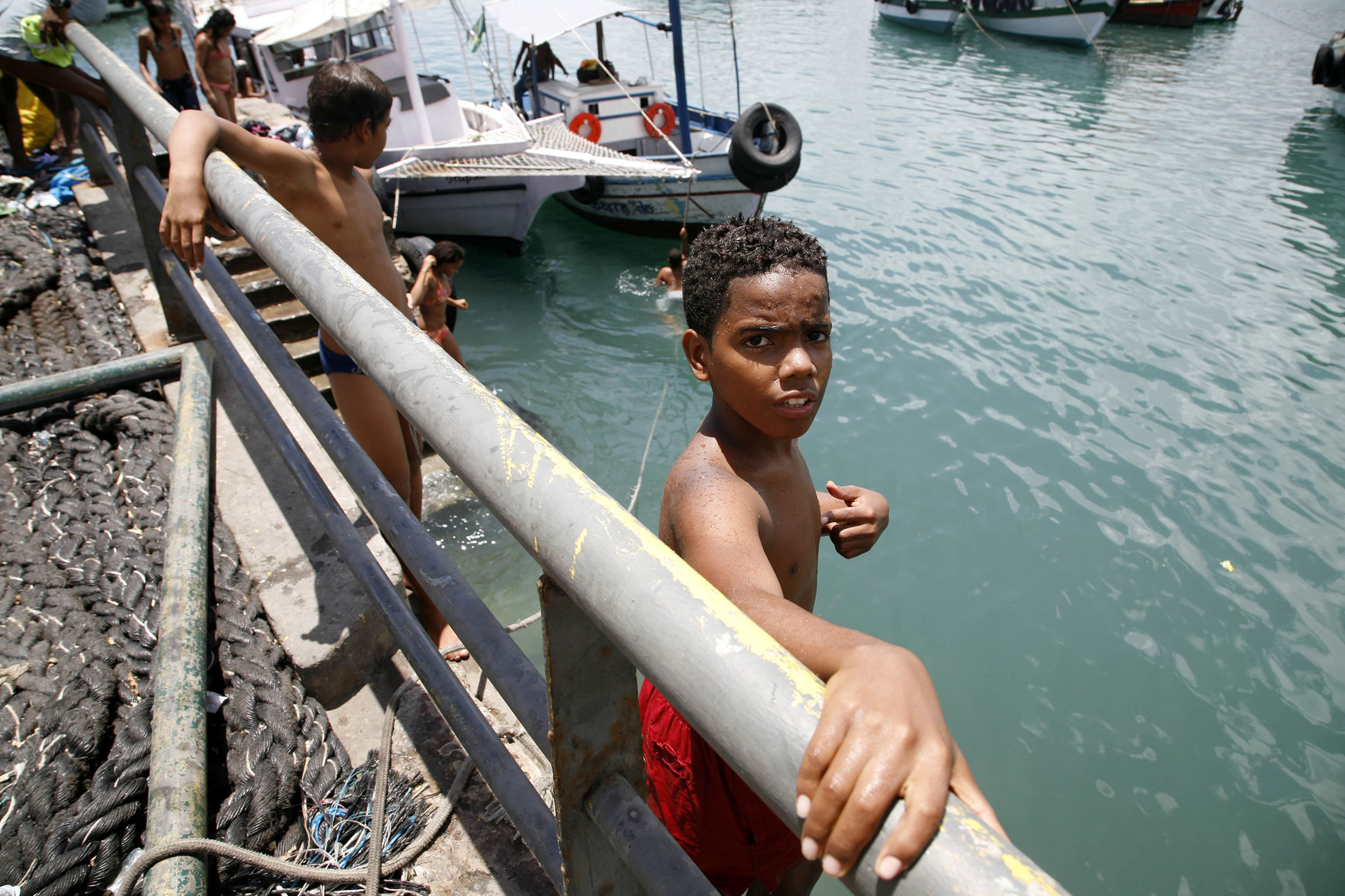 A documentary travel photograph taken at the port, Salvador, Bahia, Brazil.  Photography part of personal project