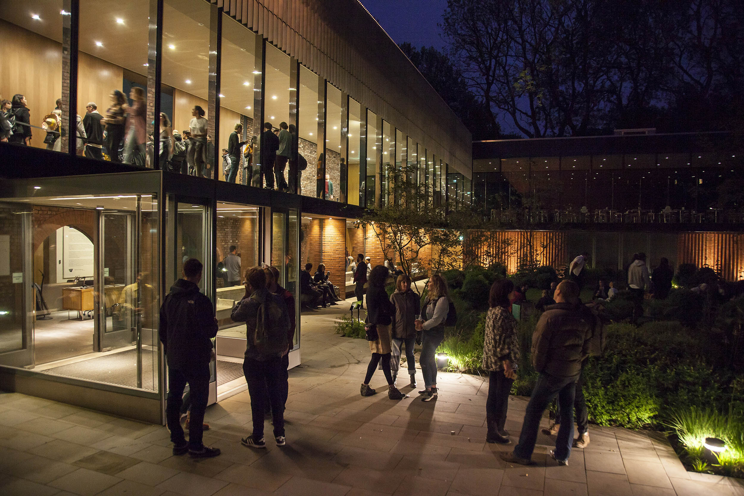 A documentary photograph of the public outdoors during an art opening.  Photography commissioned by Whitworth Art Gallery, Manchester