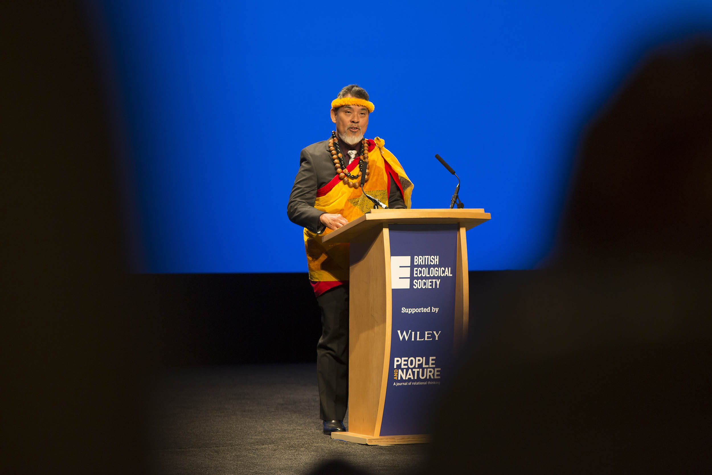 A photograph taken at a conference in Edinburgh of the British Ecological Society