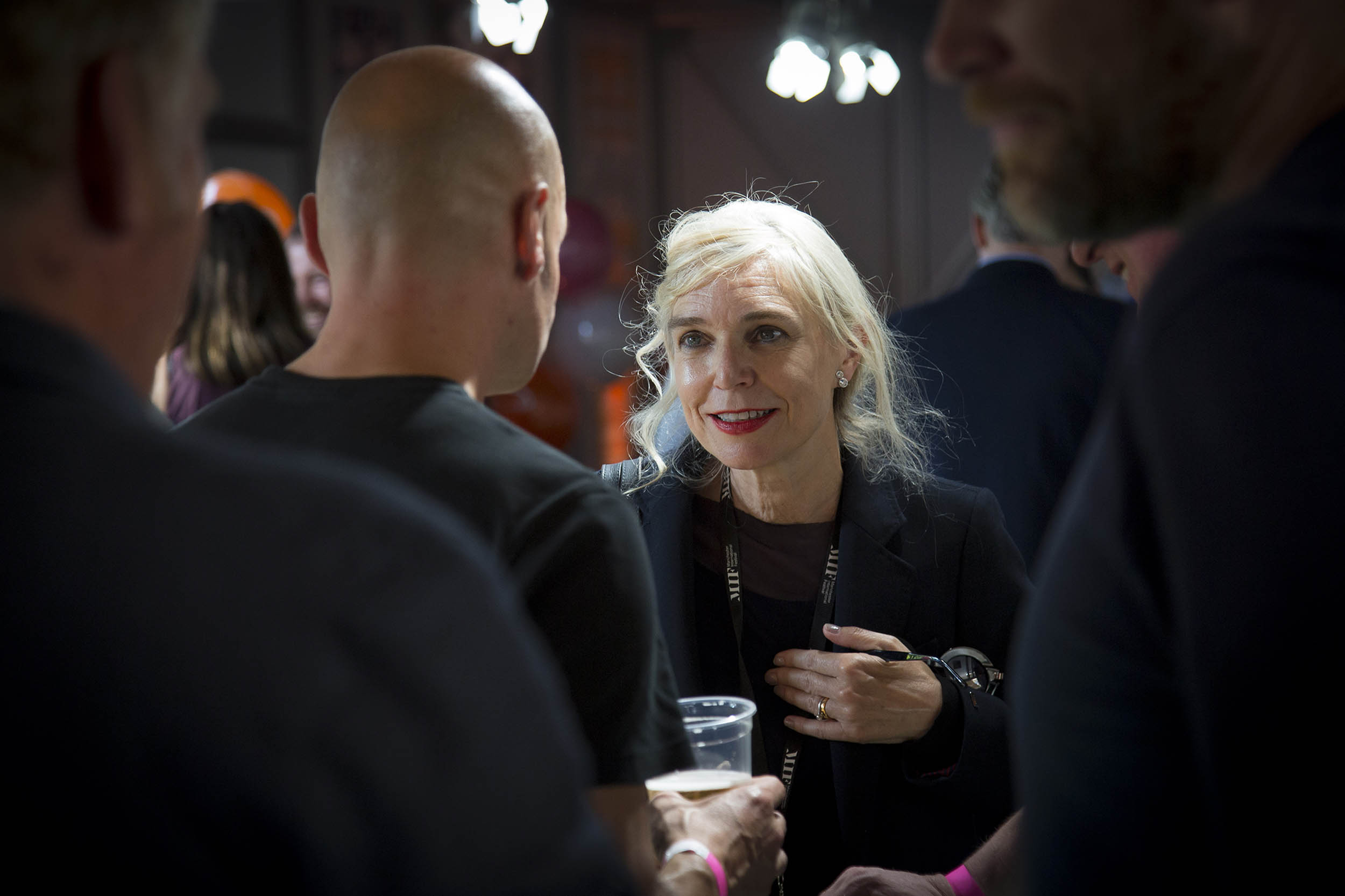 A photograph at an event during the Manchester International Festival
