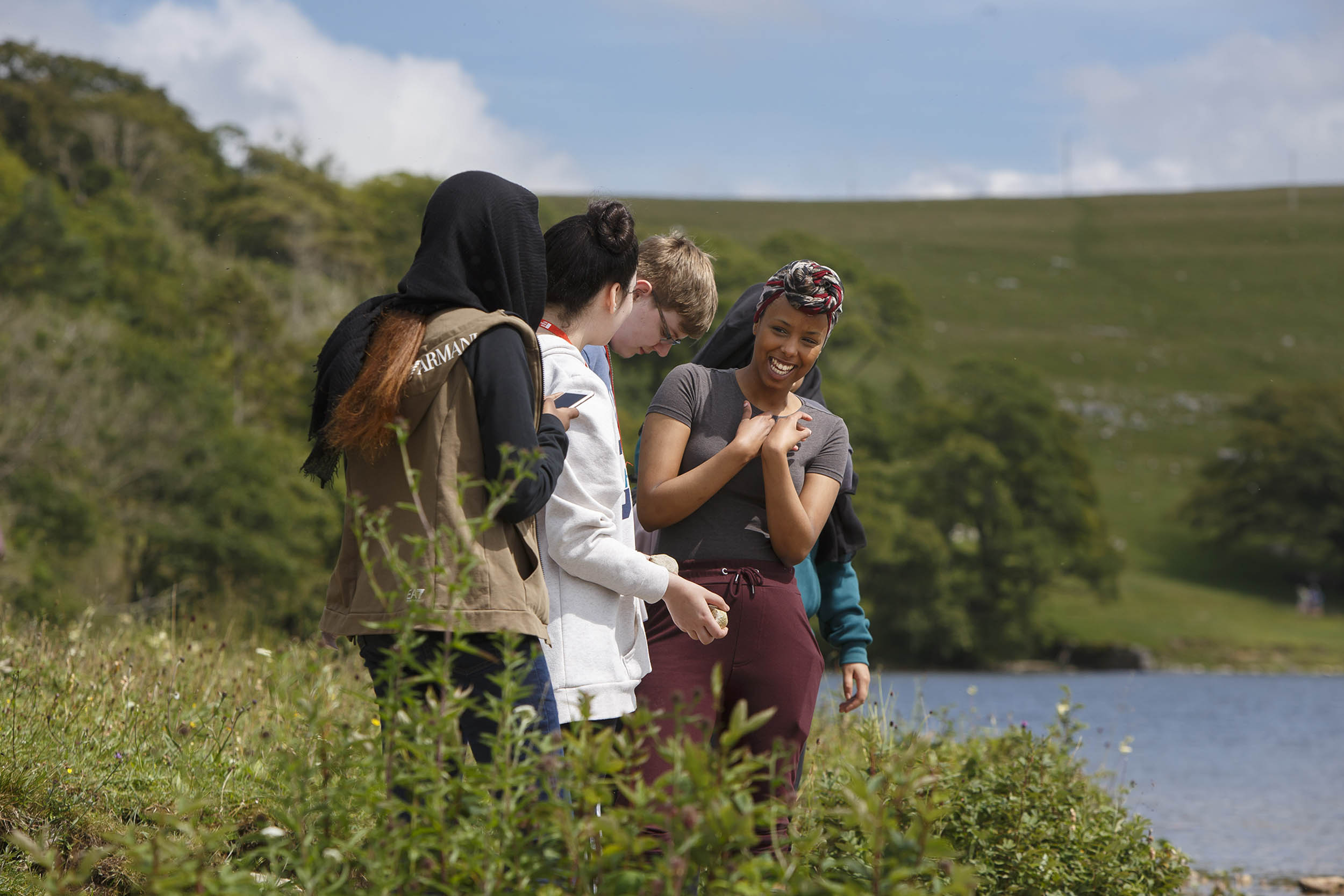A photograph taken at the British Ecological Society Summer School at Malham Tarn, Yorkshire